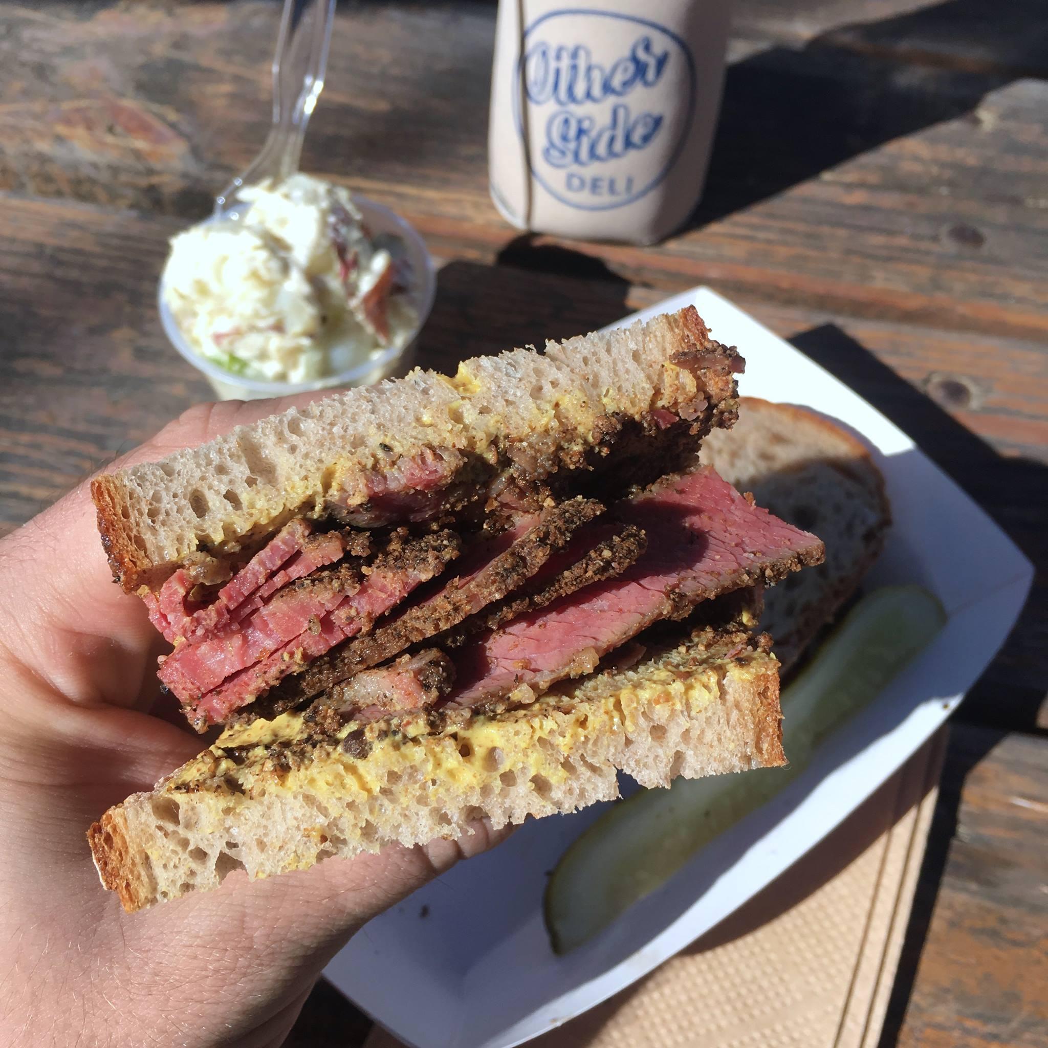 Otherside Deli's pastrami sandwich