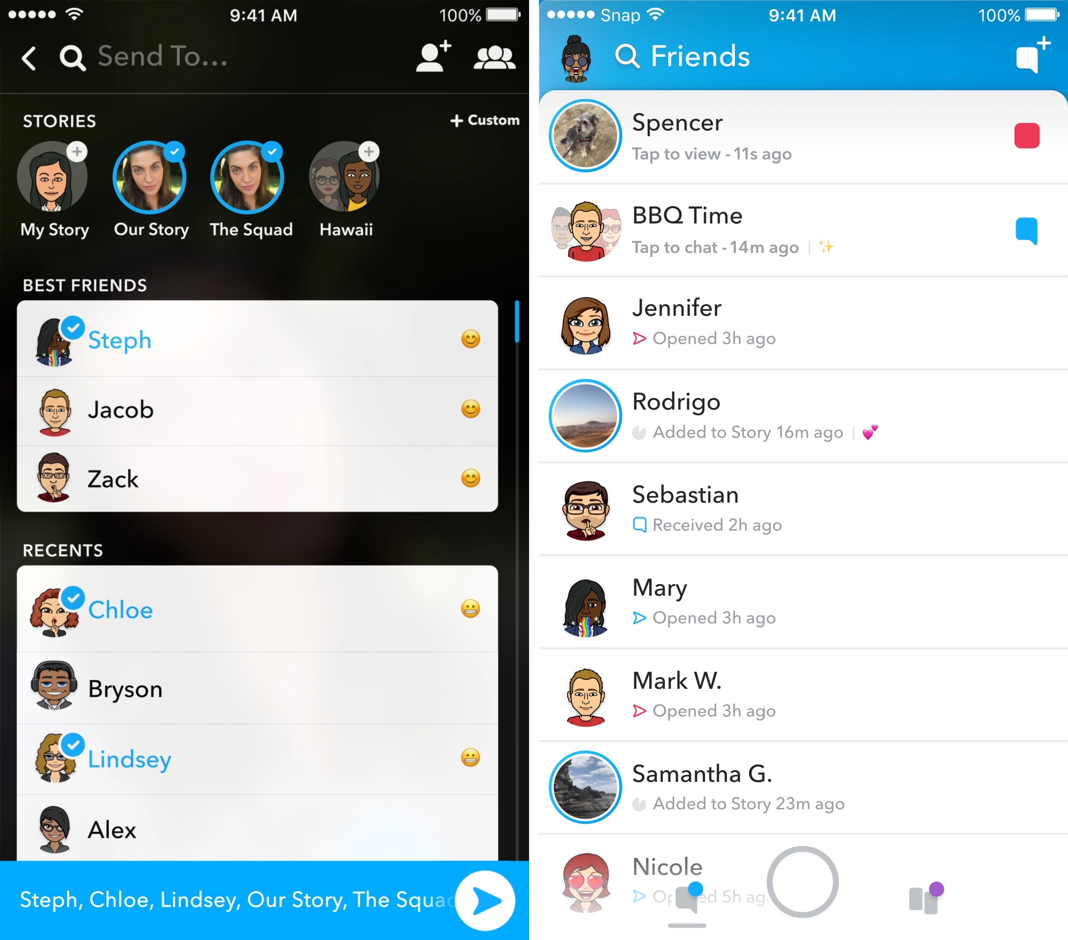 How to view all friends list on snapchat