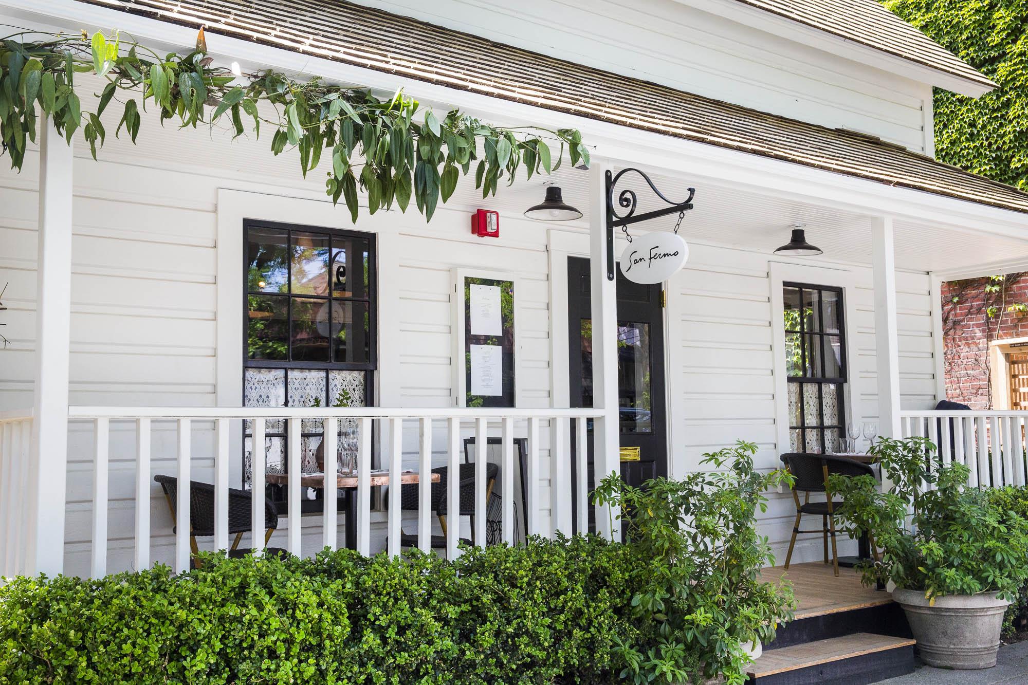 The exterior of Seattle restaurant San Fermo, in the Ballard neighborhood.