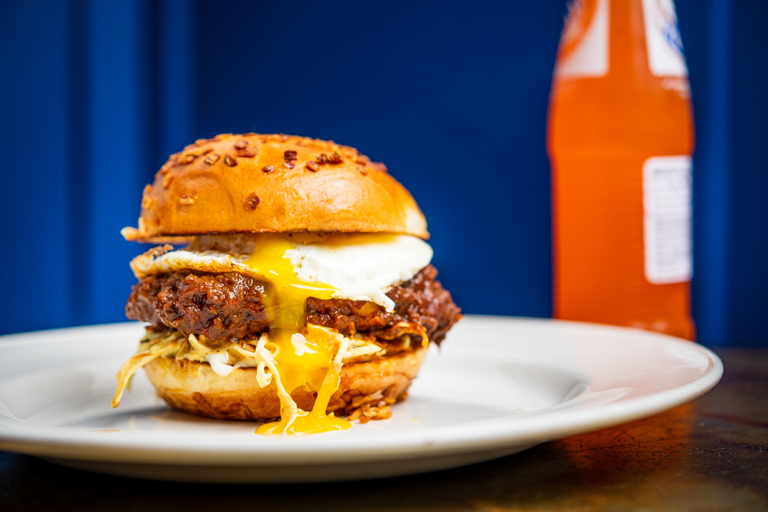The National from Mélange turns doro wat into a fried chicken sandwich.