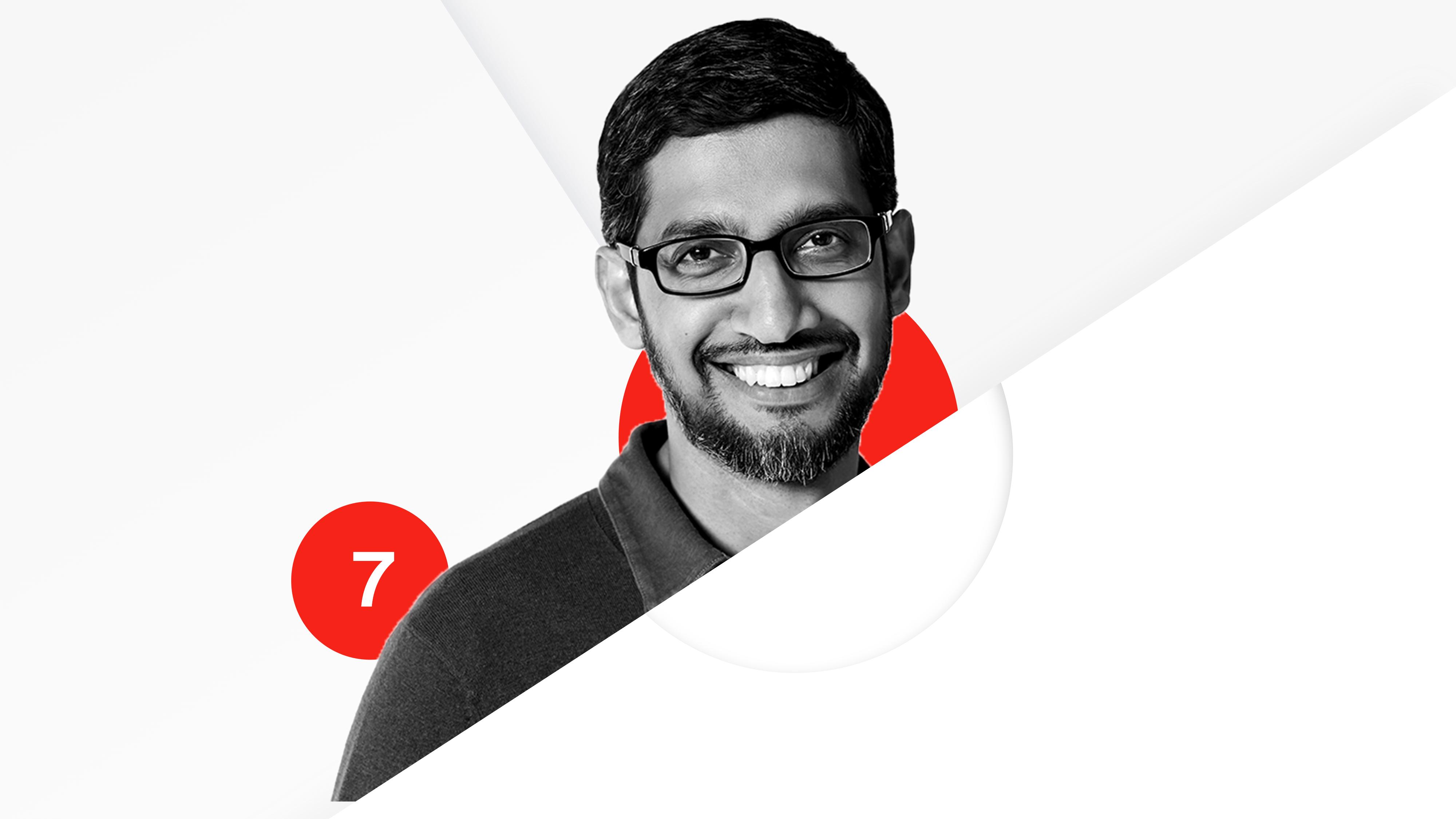 Microsoft's Sundar Pichai is No. 7 on the Recode 100.