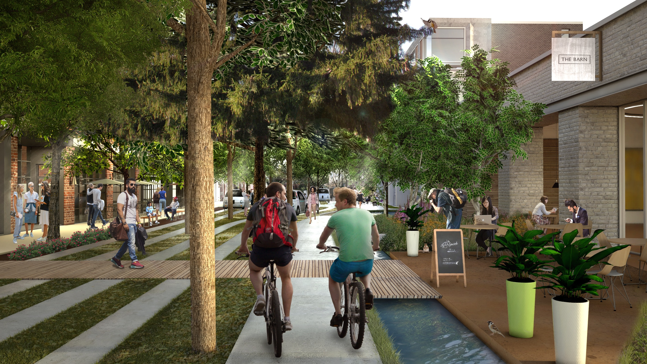 Thanks to autonomous vehicles, we could have these utopian, tree-filled streets