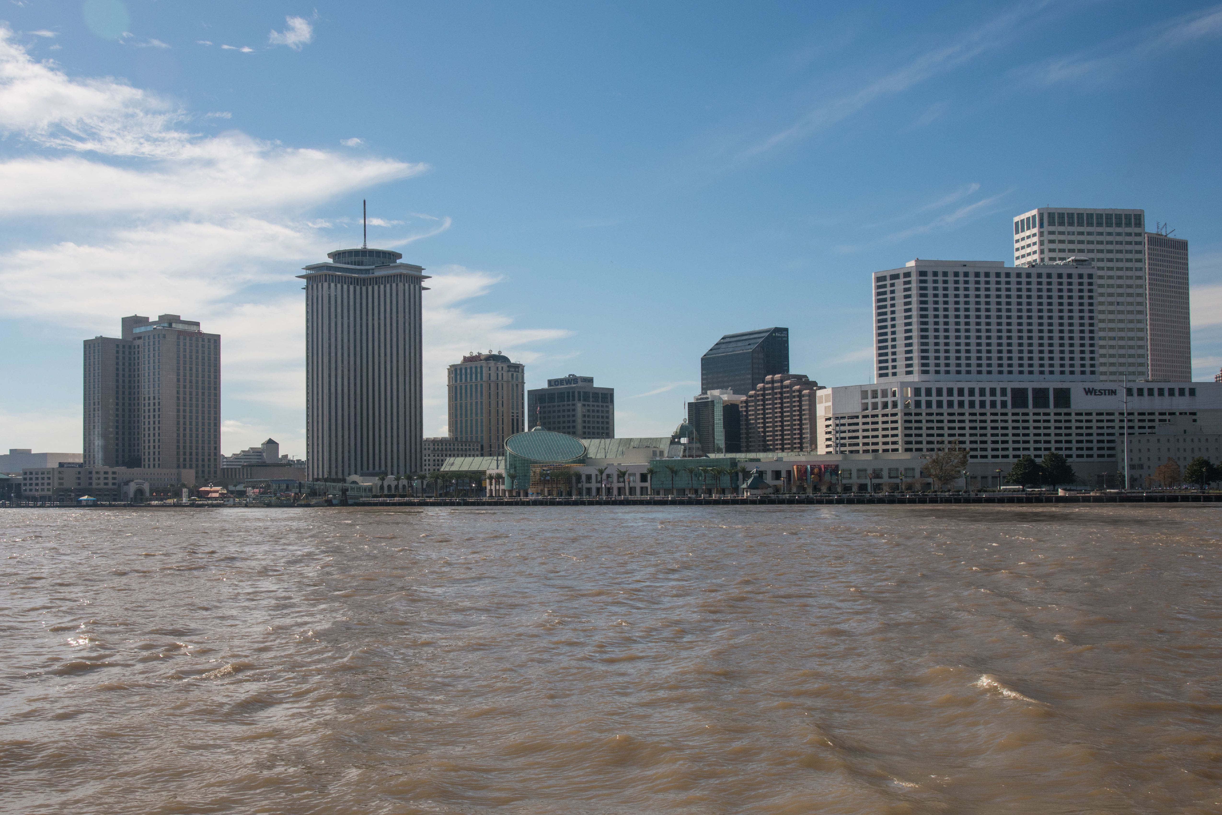 New Orleans Waterfront Skyline, Louisiana. (Photo by: Education Images/UIG via Getty Images)