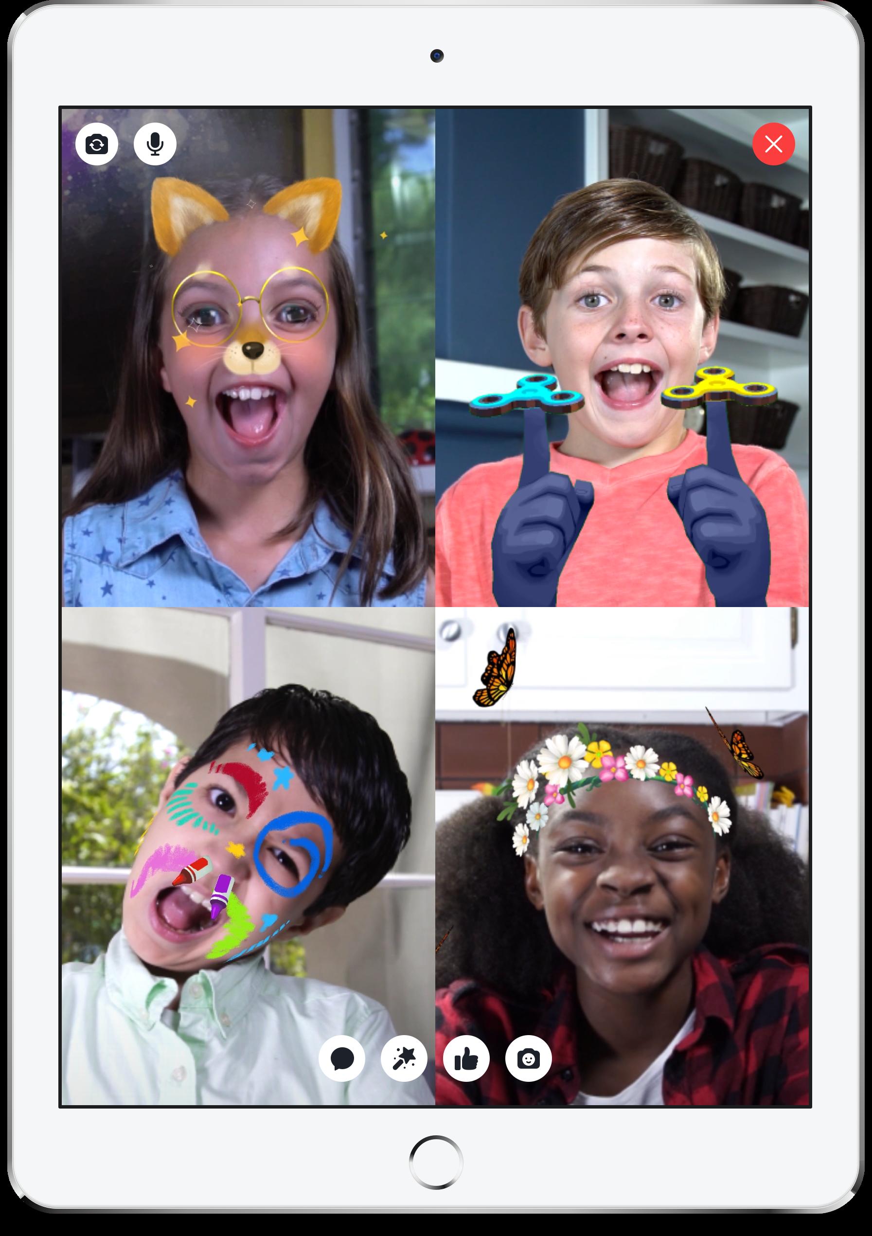 Facebook's new Messenger kids app for pre-teens.