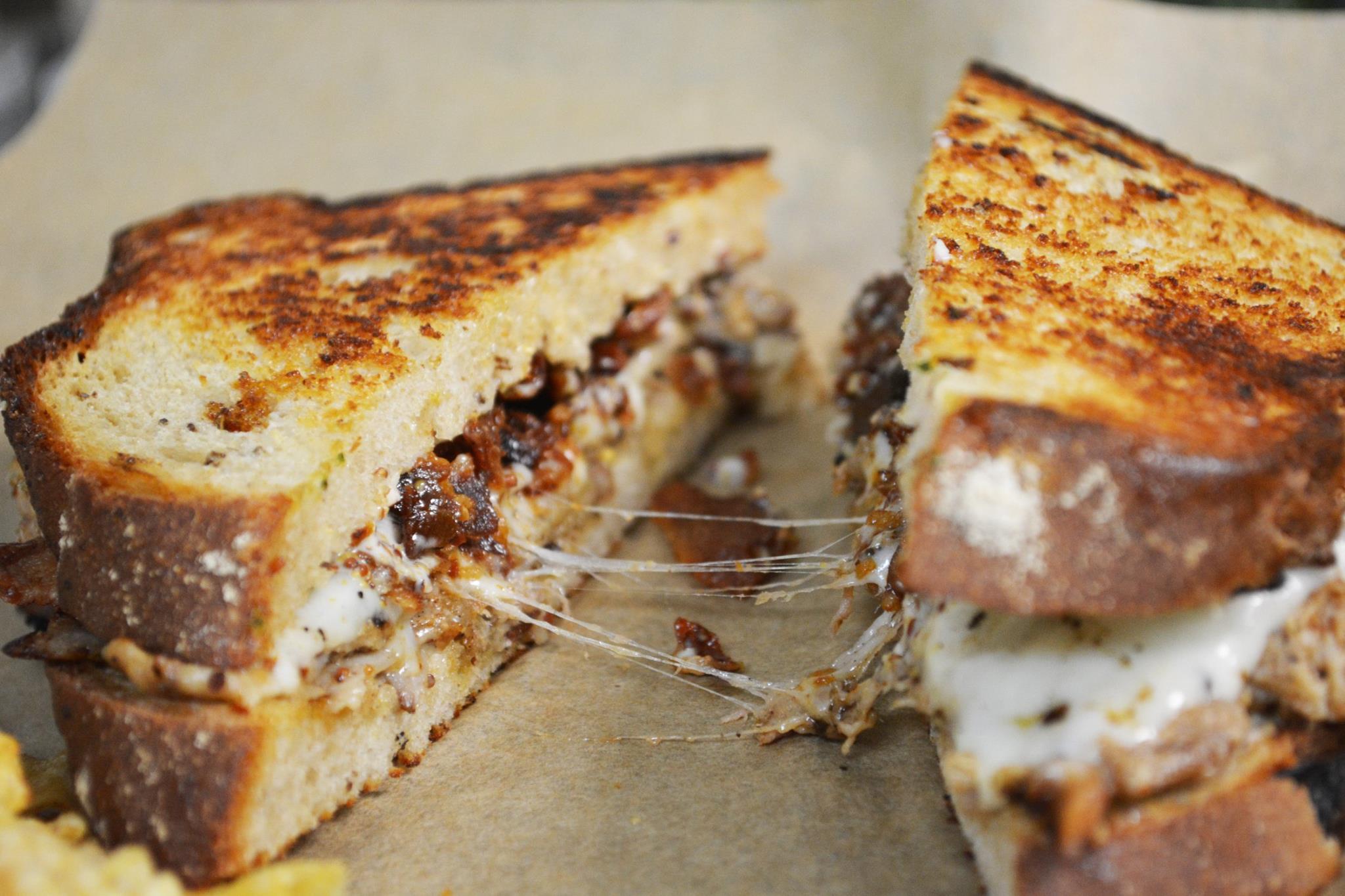 A gooey sandwich from Noble Sandwich Co.
