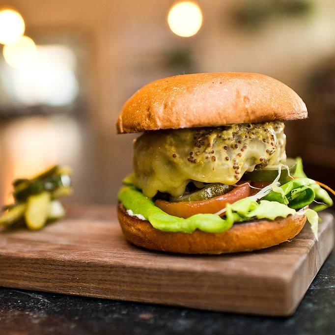 A burger from Henri's