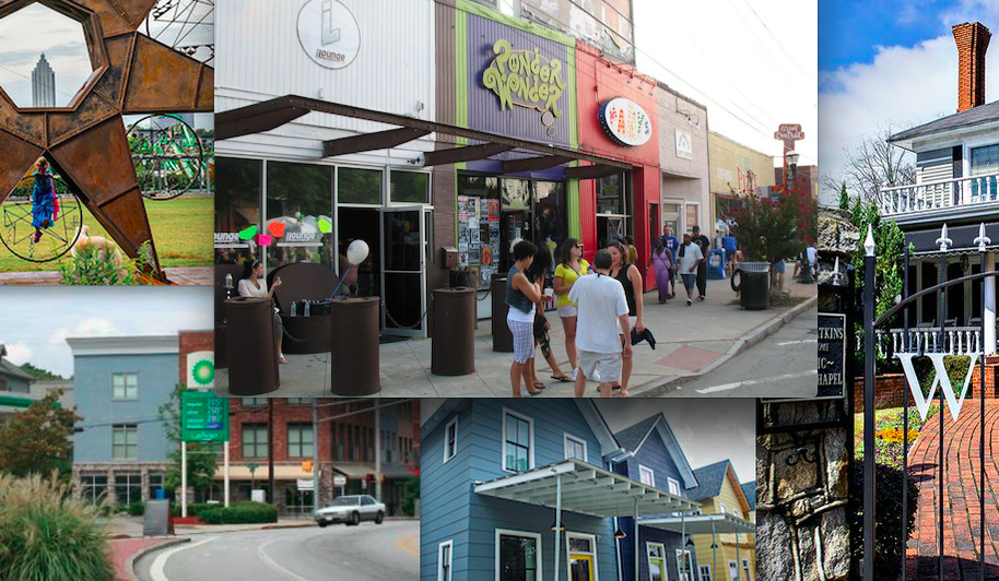 Photos of various Atlanta neighborhoods that have won the Curbed Cup.