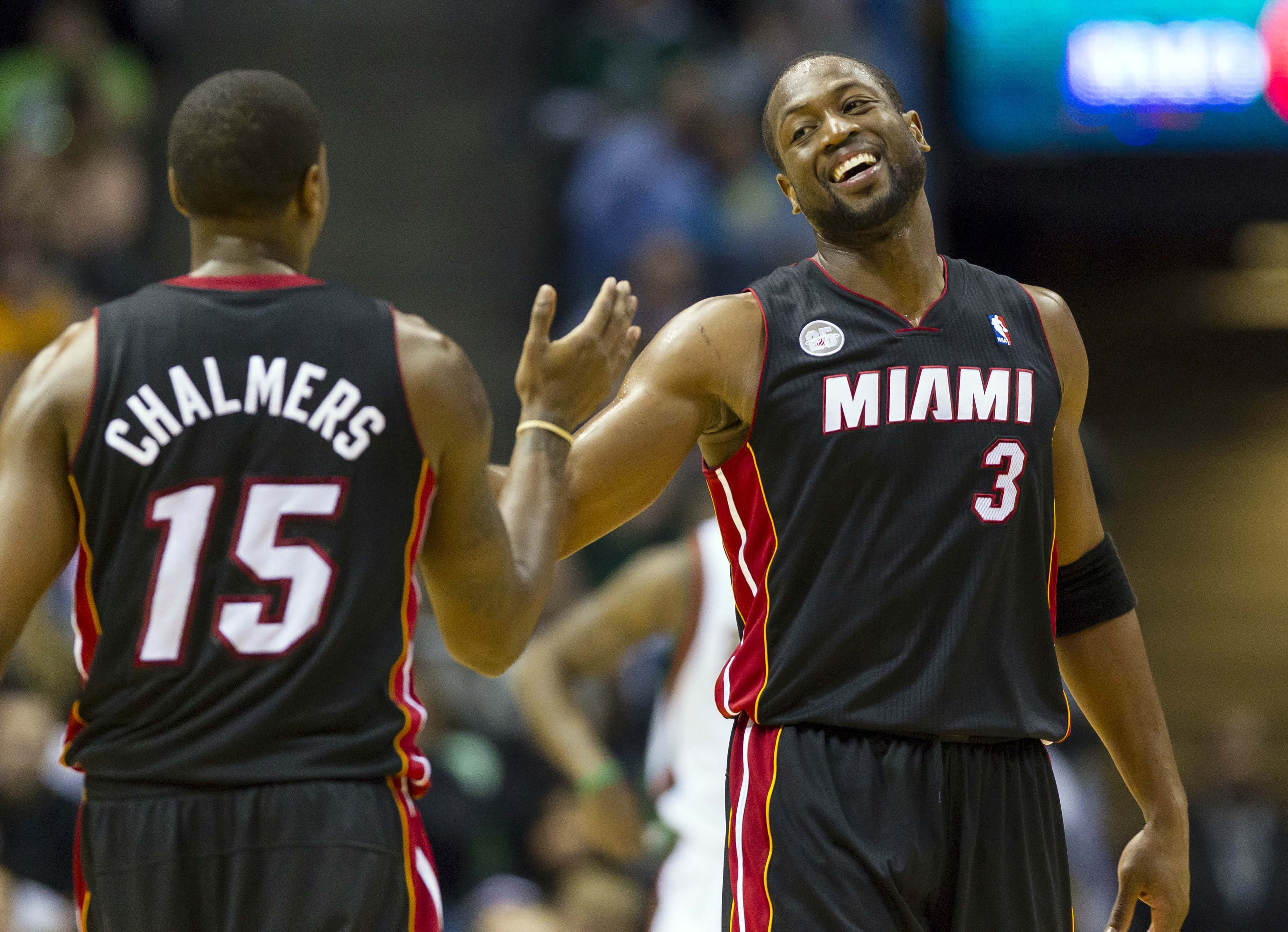 Mario Chalmers and Dwyane Wade