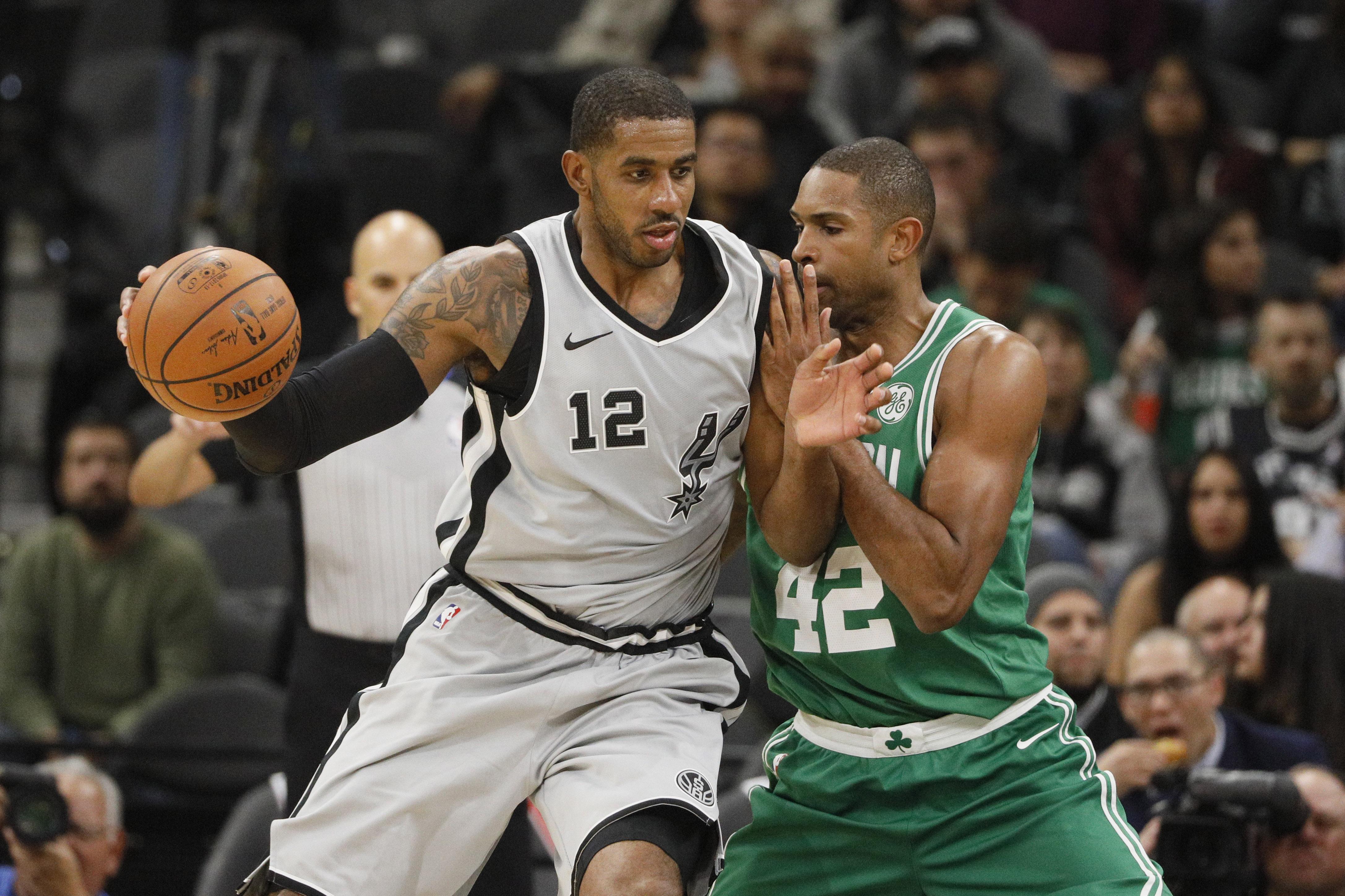 NBA: Boston Celtics at San Antonio Spurs