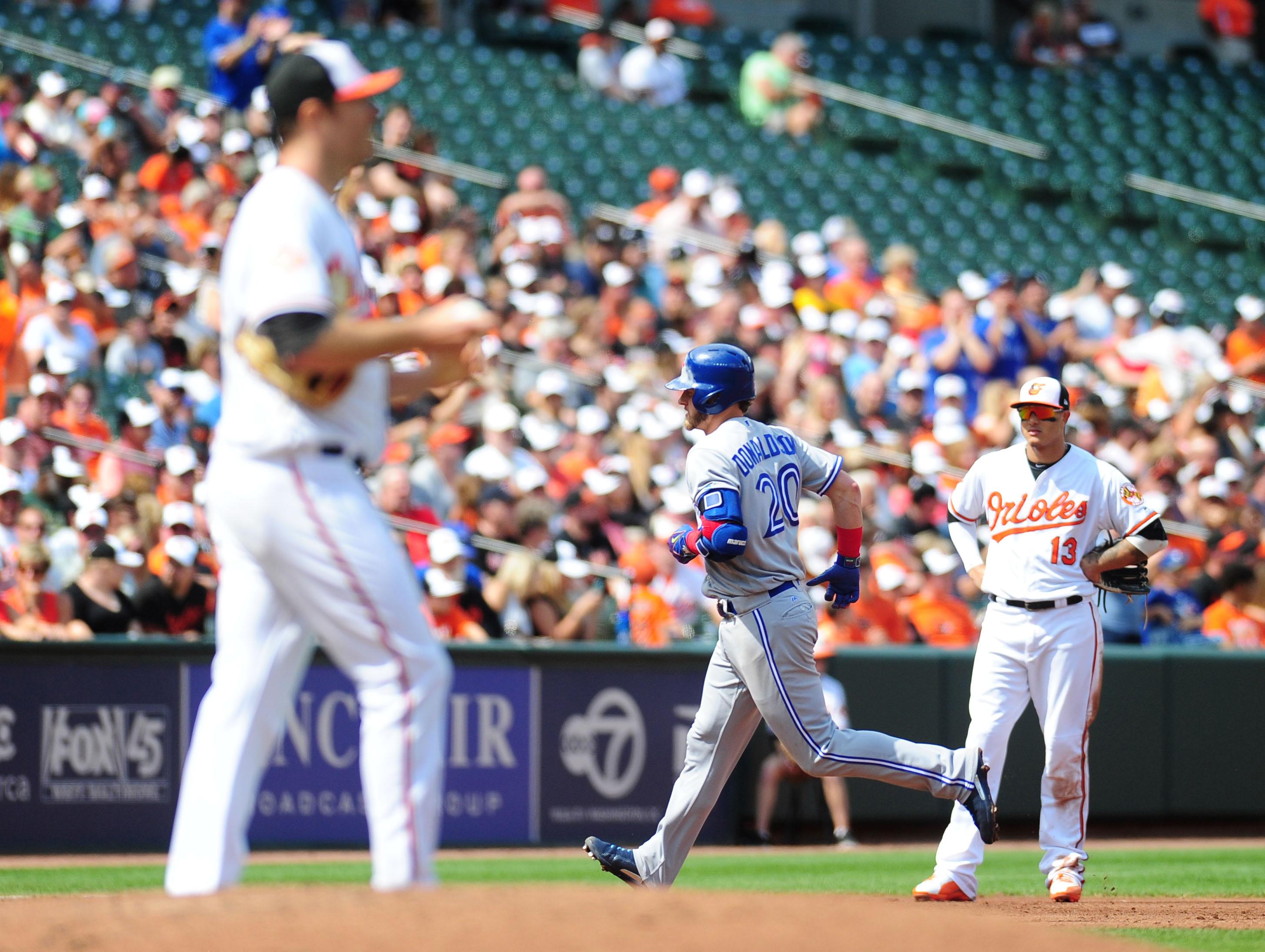 MLB:Baltimore Orioles的多伦多蓝插