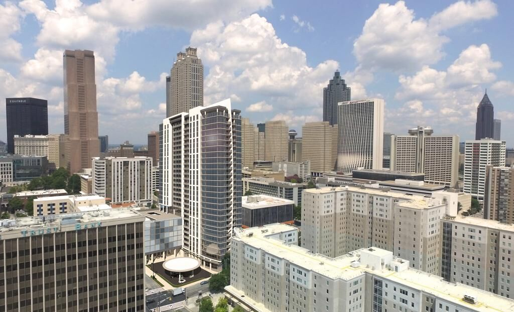 A new tower's rendering in the heart of downtown Atlanta.