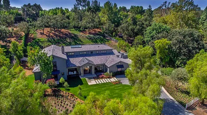 Aerial view of Kris Jenner house