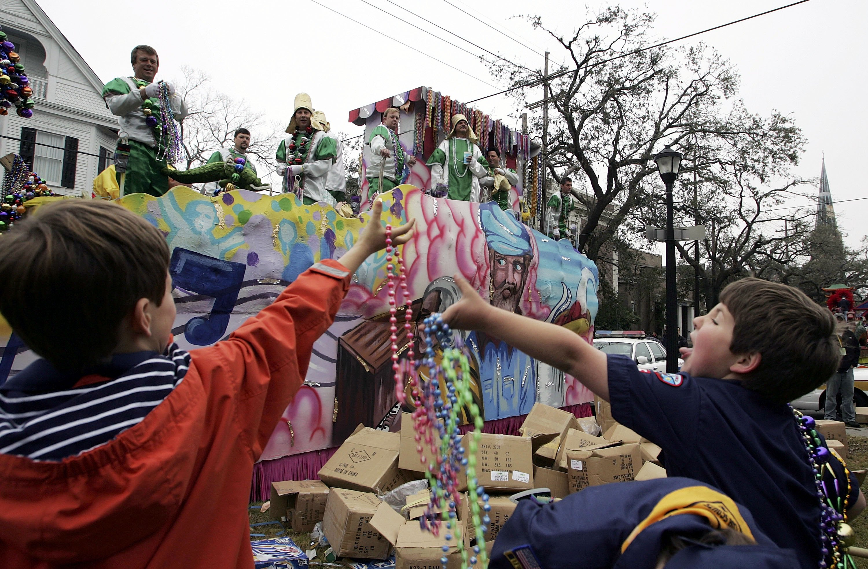 Parades Kickoff Mardi Gras In New Orleans