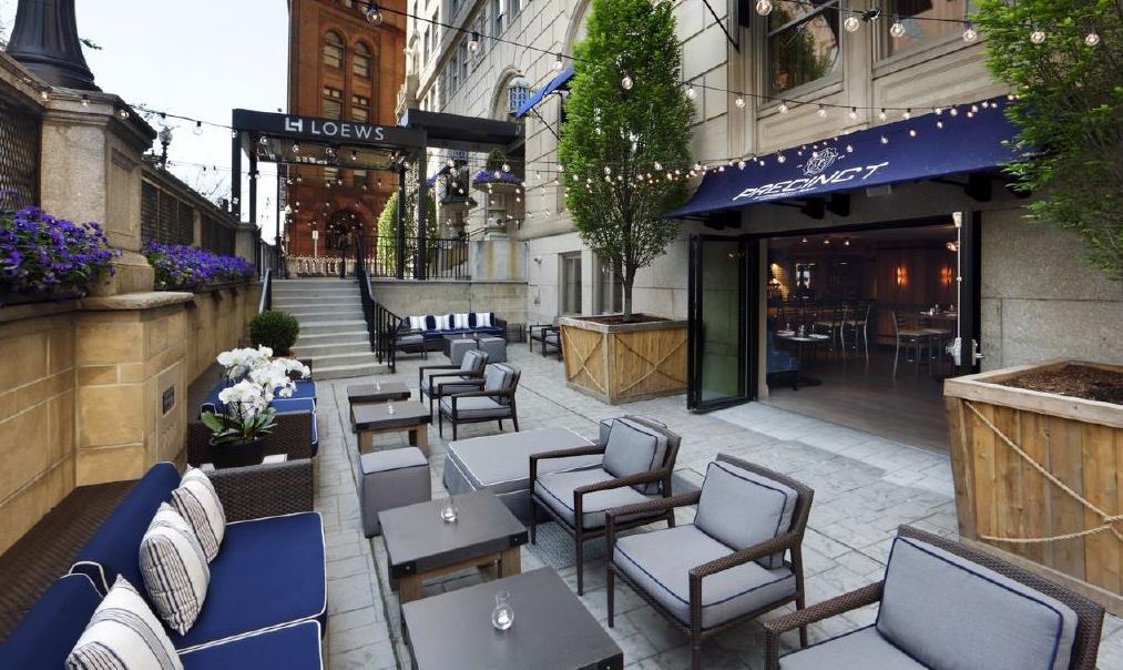 The Precinct Kitchen & Bar Patio, in warmer months