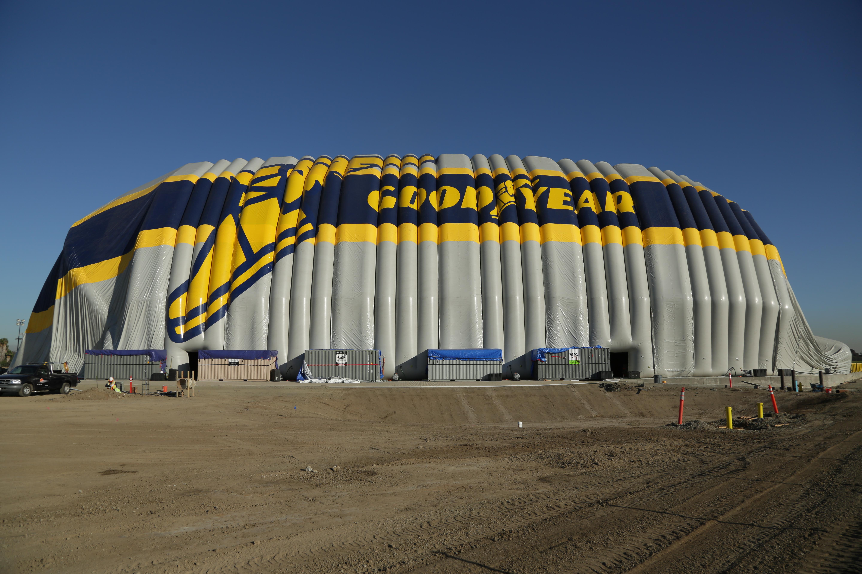 View of new Goodyear hangar