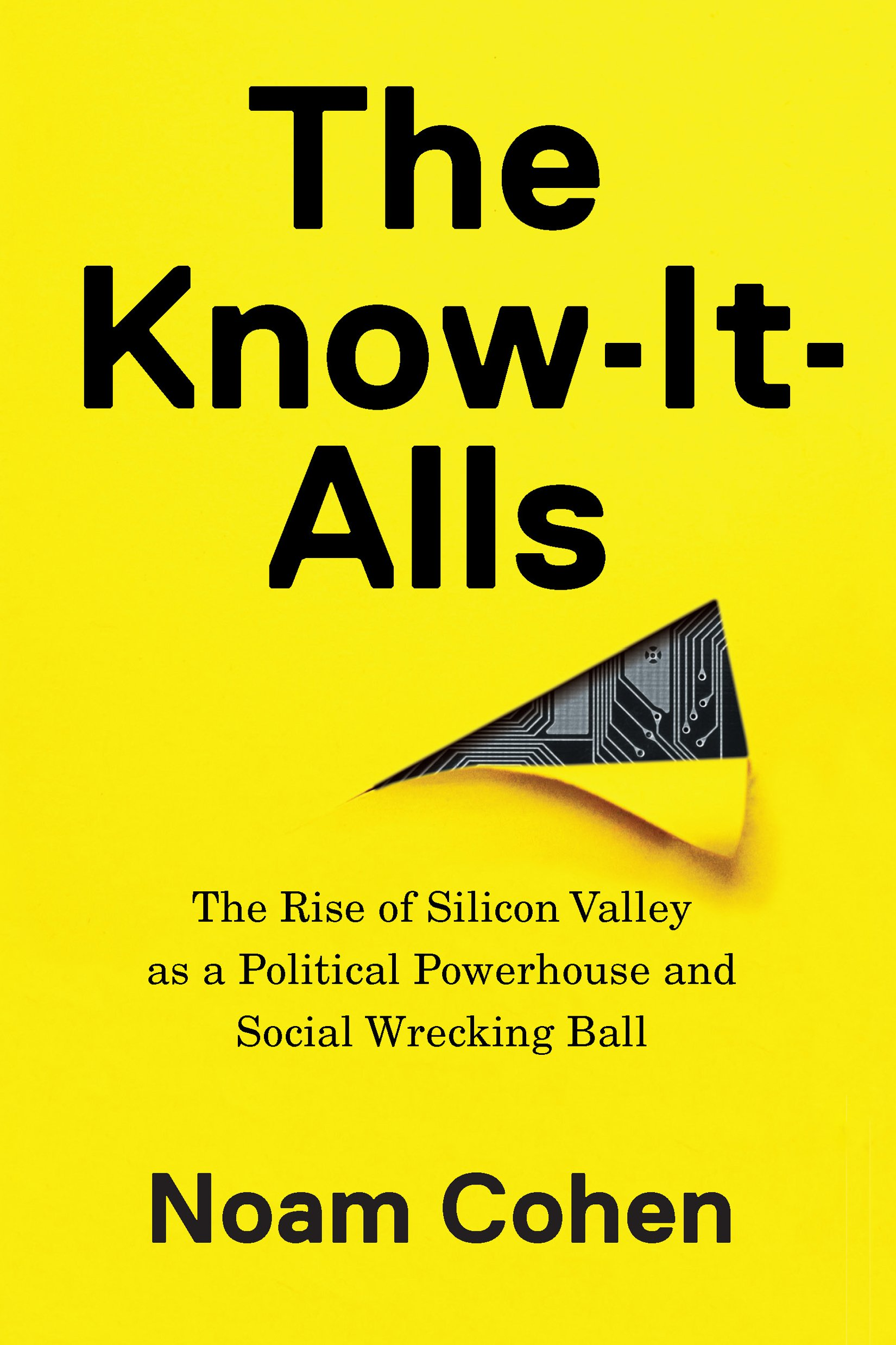 """The cover of """"The Know-It-Alls"""" by Noam Cohen"""
