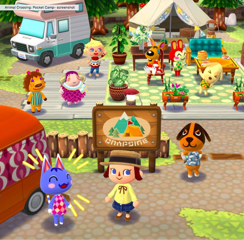 animal crossing pocket camp artwork