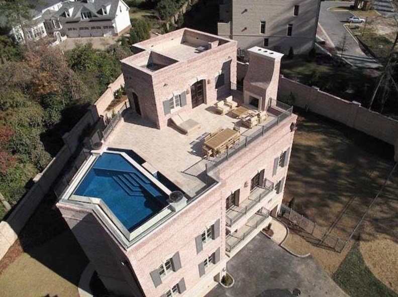 For $1.6M, gargantuan home boasts Buckhead's only private rooftop pool