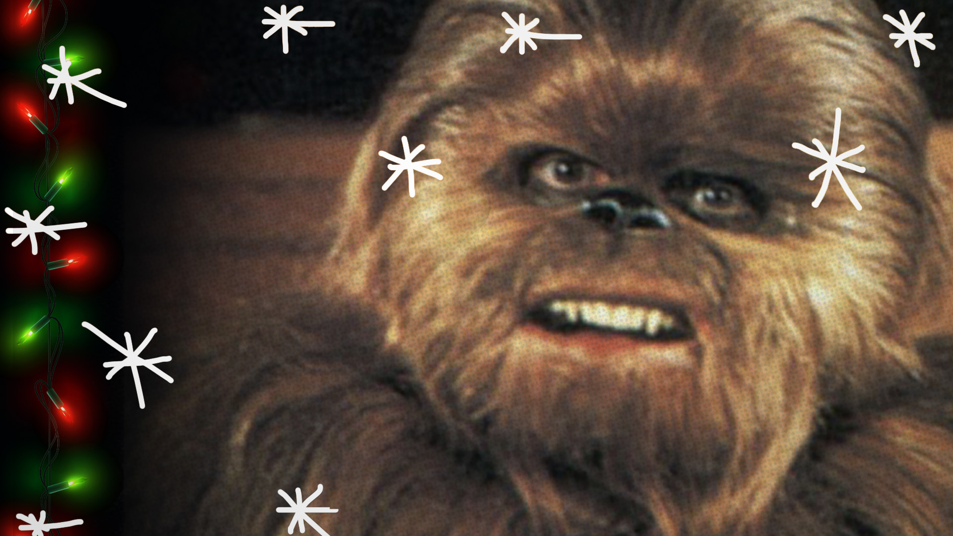 Chewbacca's son Lumpy in the Holiday Special.