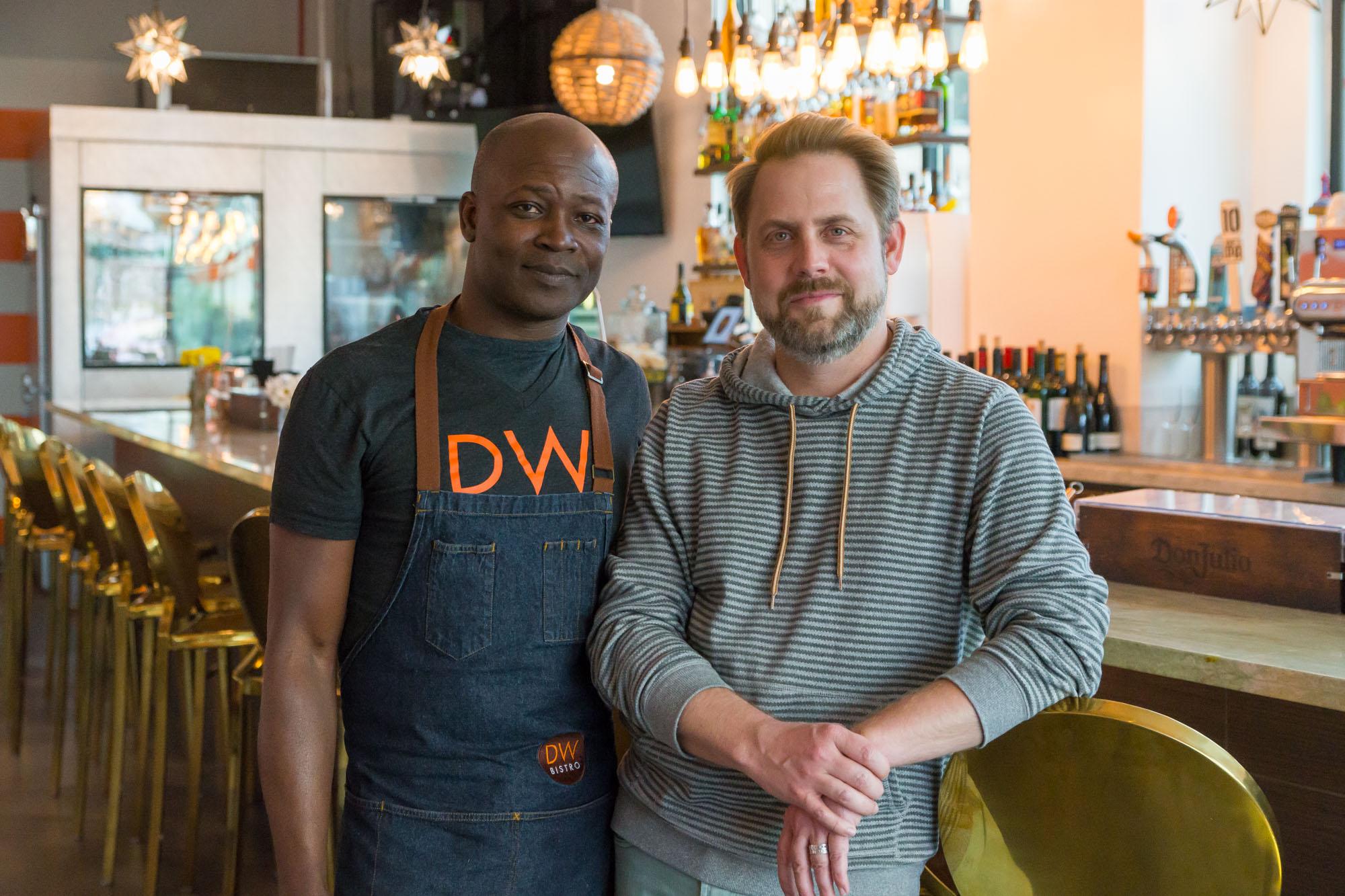 Dalton Wilson and Bryce Krausman at DW Bistro