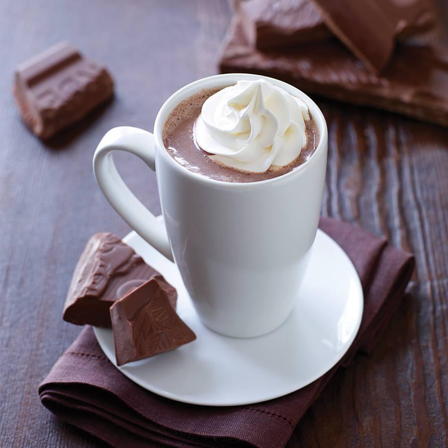 Hot cocoa at Ghiradelli