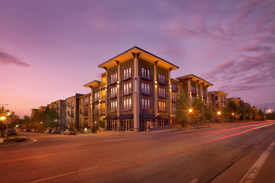 A photo of the 5300 Lofts in Chamblee's historic district.