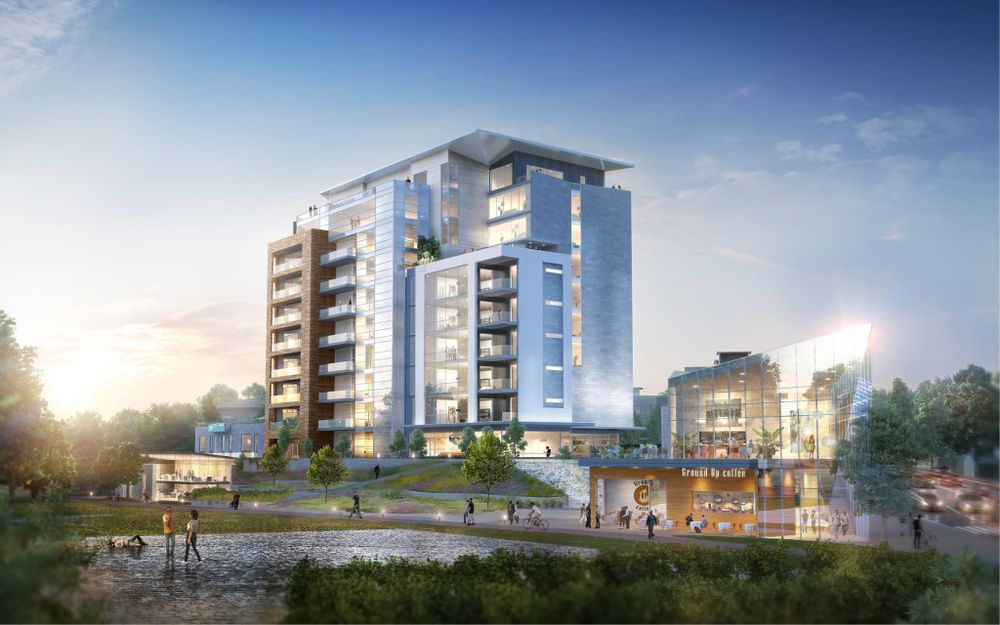 A concept overlooking Piedmont Park compiled by Smith Dalia Architects.