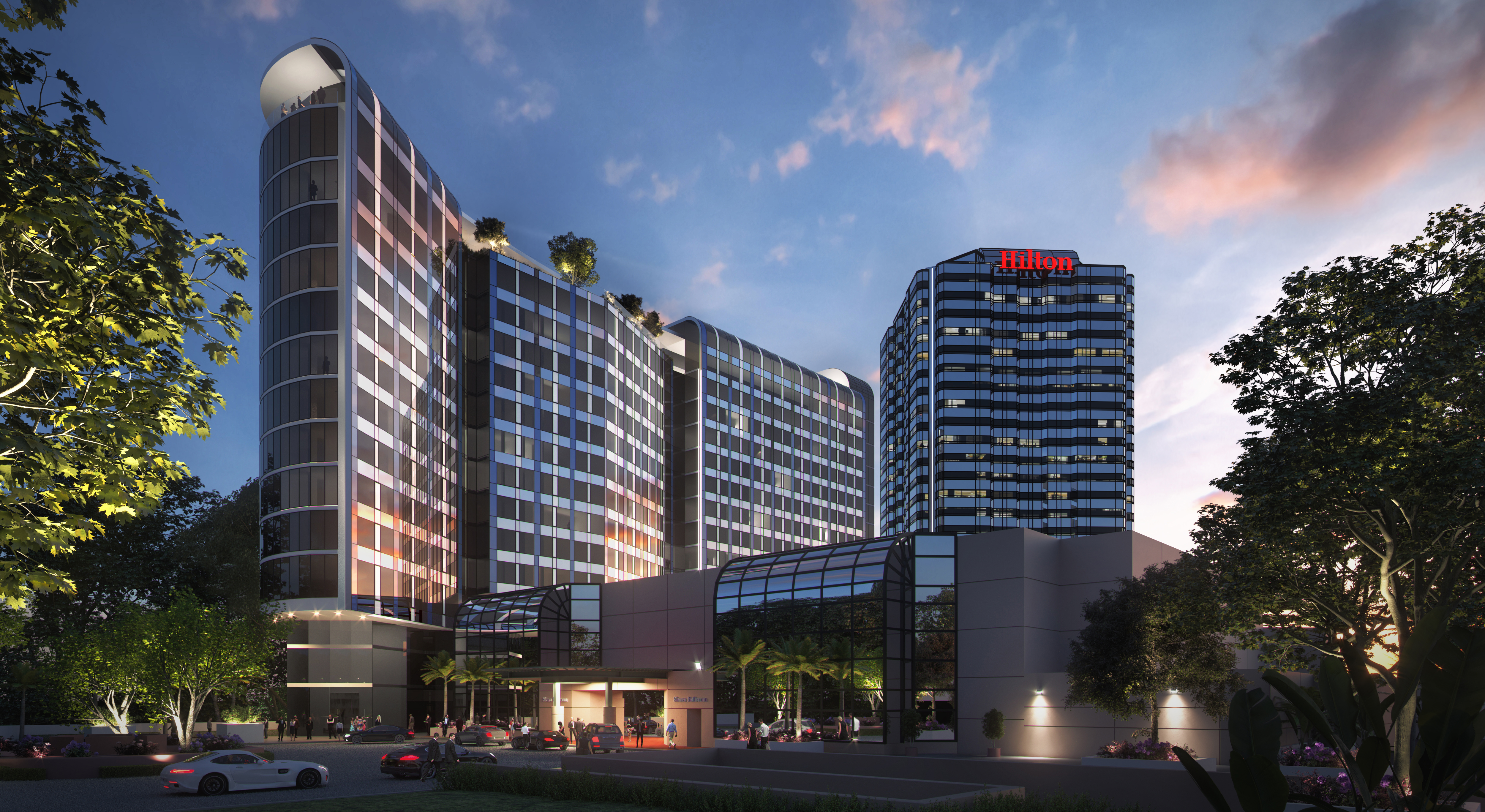 Rendering of new Universal Hilton tower