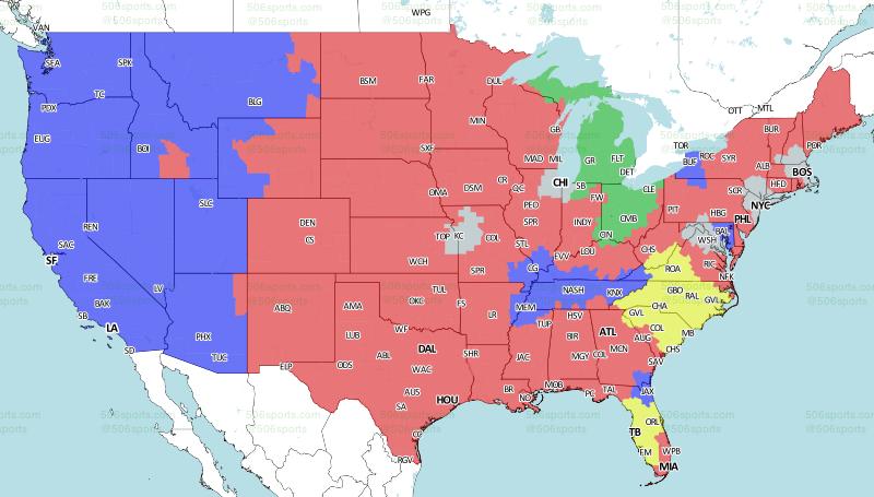 Week 16 broadcast map