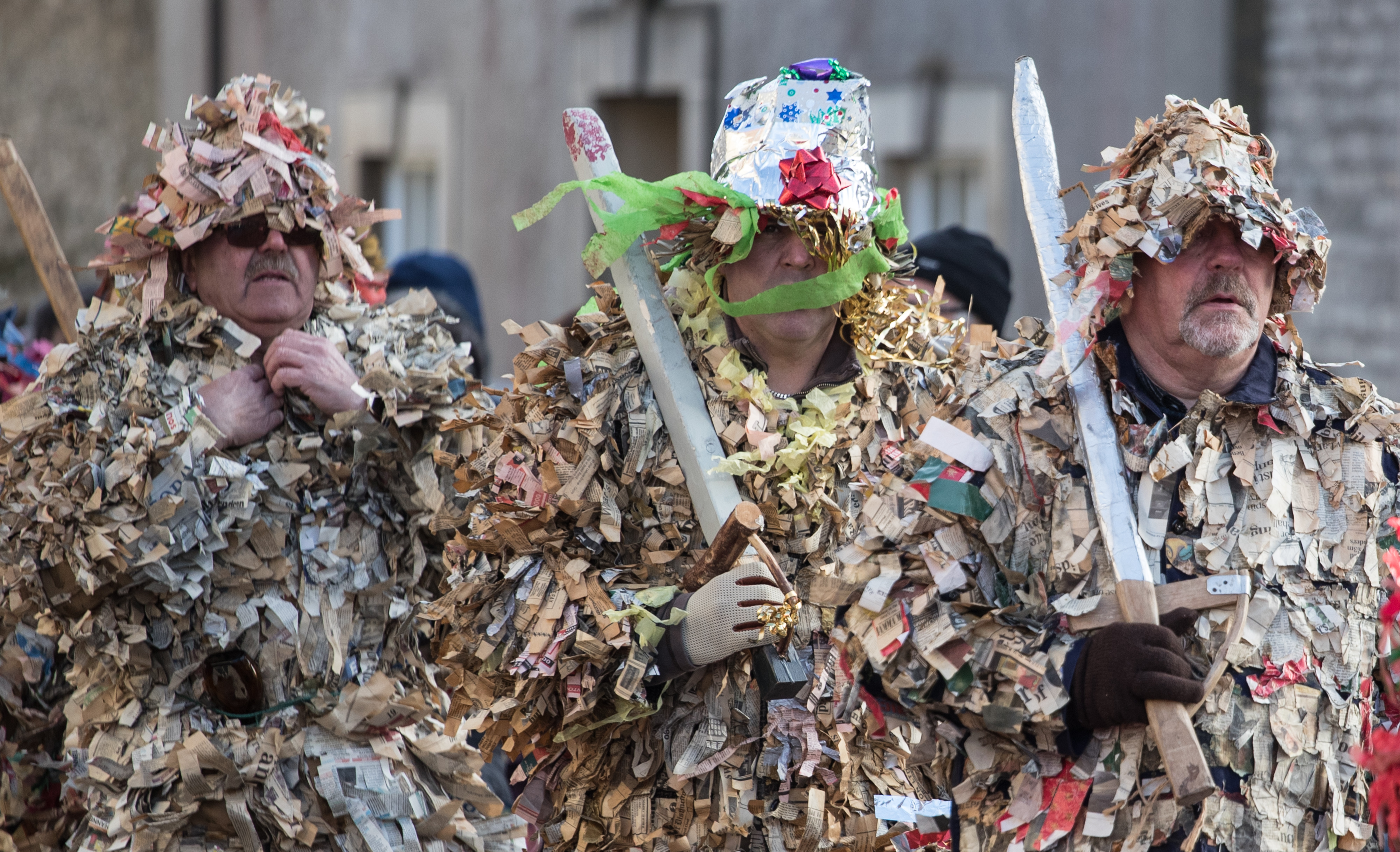 The Traditional Marshfield Mummers Is Performed On Boxing Day