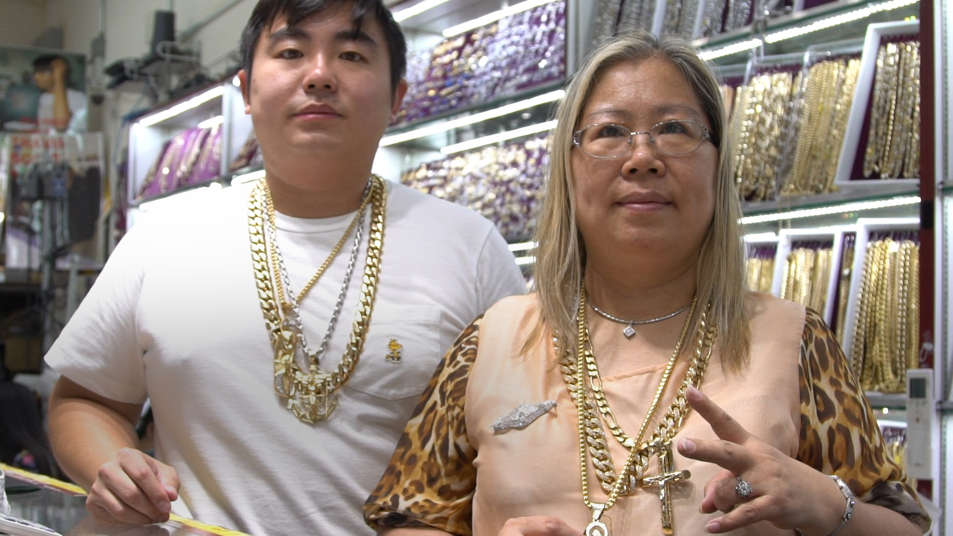 A$AP Eva and her son in their jewelry store