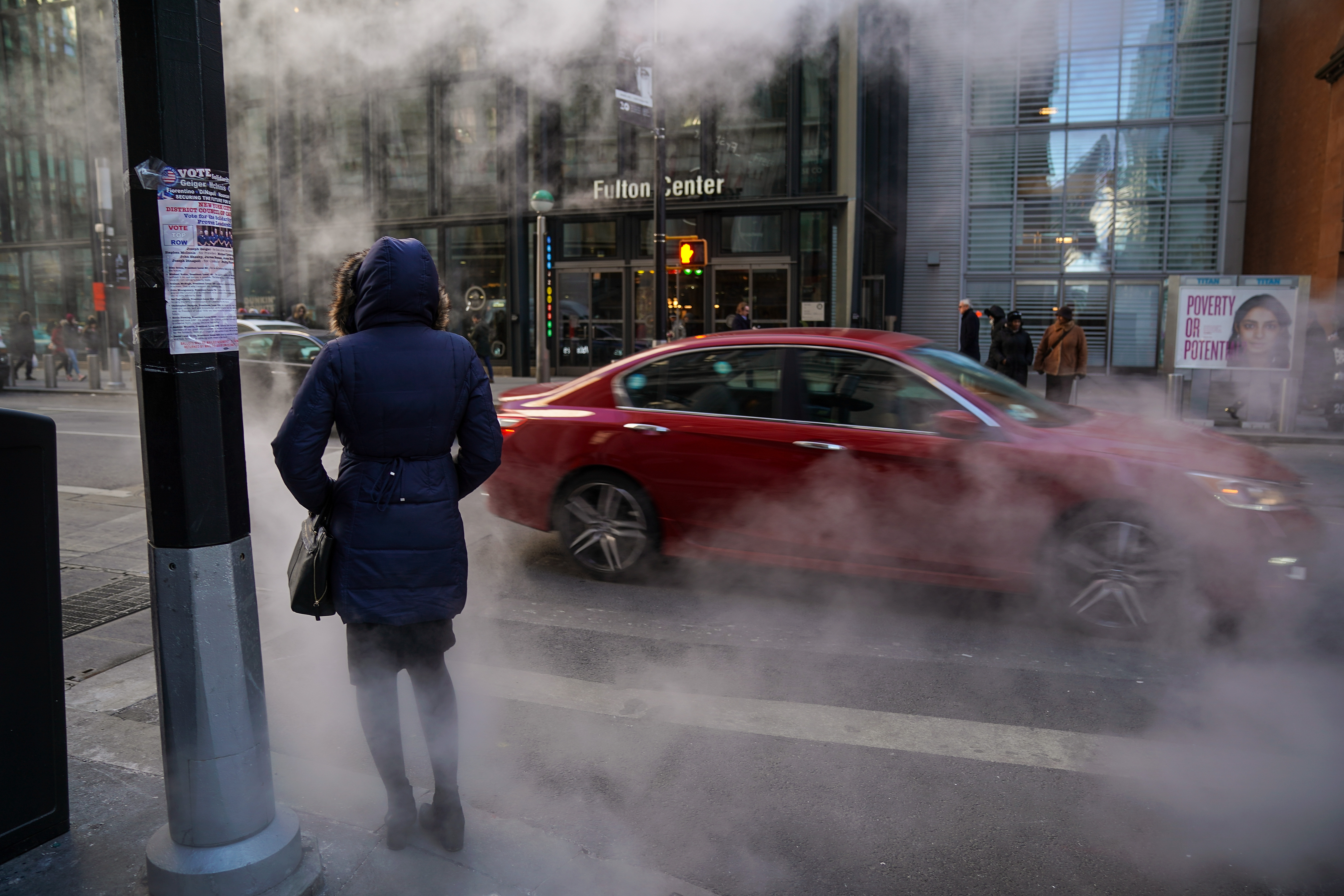 Cold Front Sends Temperatures Into 20's In New York City