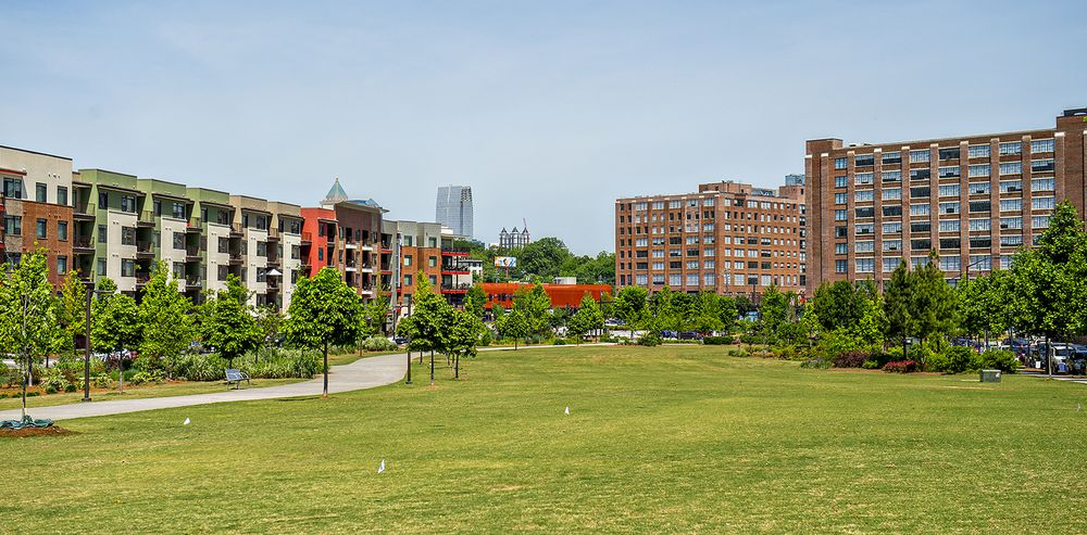 A photo of Historic Fourth Ward Park in Atlanta.
