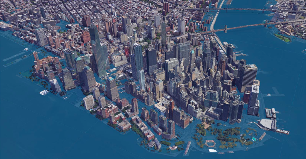 Here's what NYC would look like if sea levels rise by 8 feet