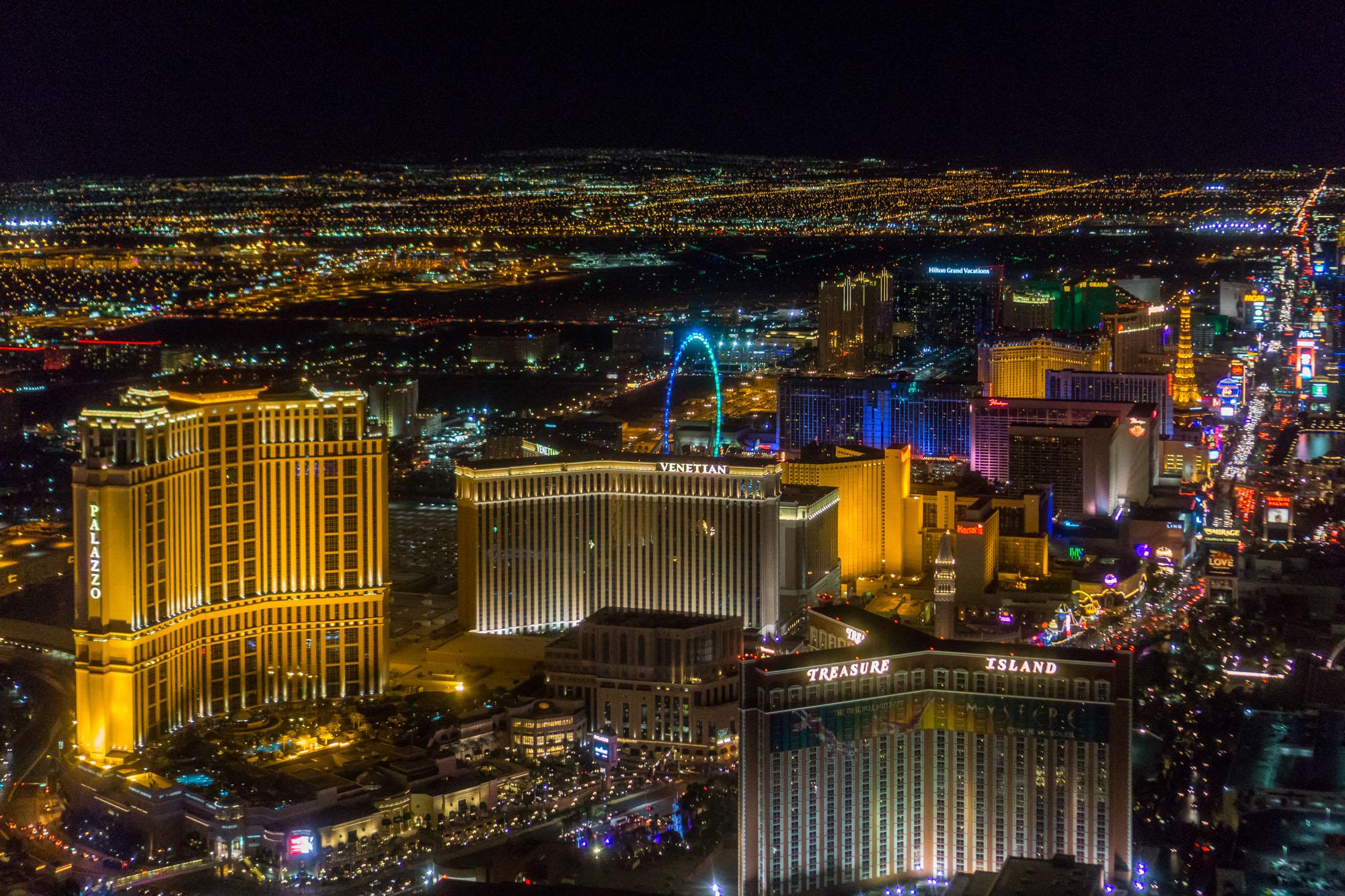 The Las Vegas skyline