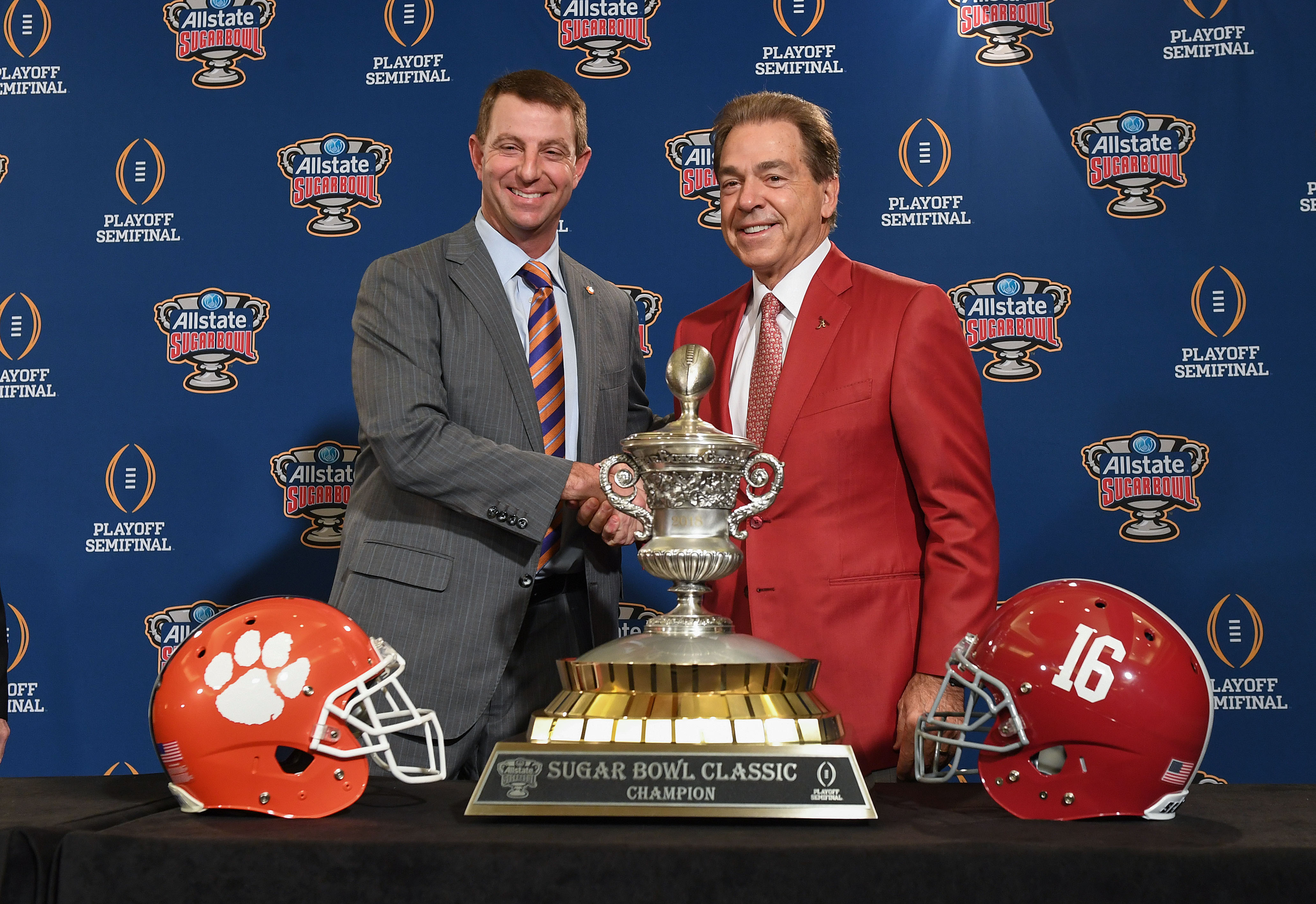 If this happens again next year, let's just have Dabo and Nick fight at midfield.