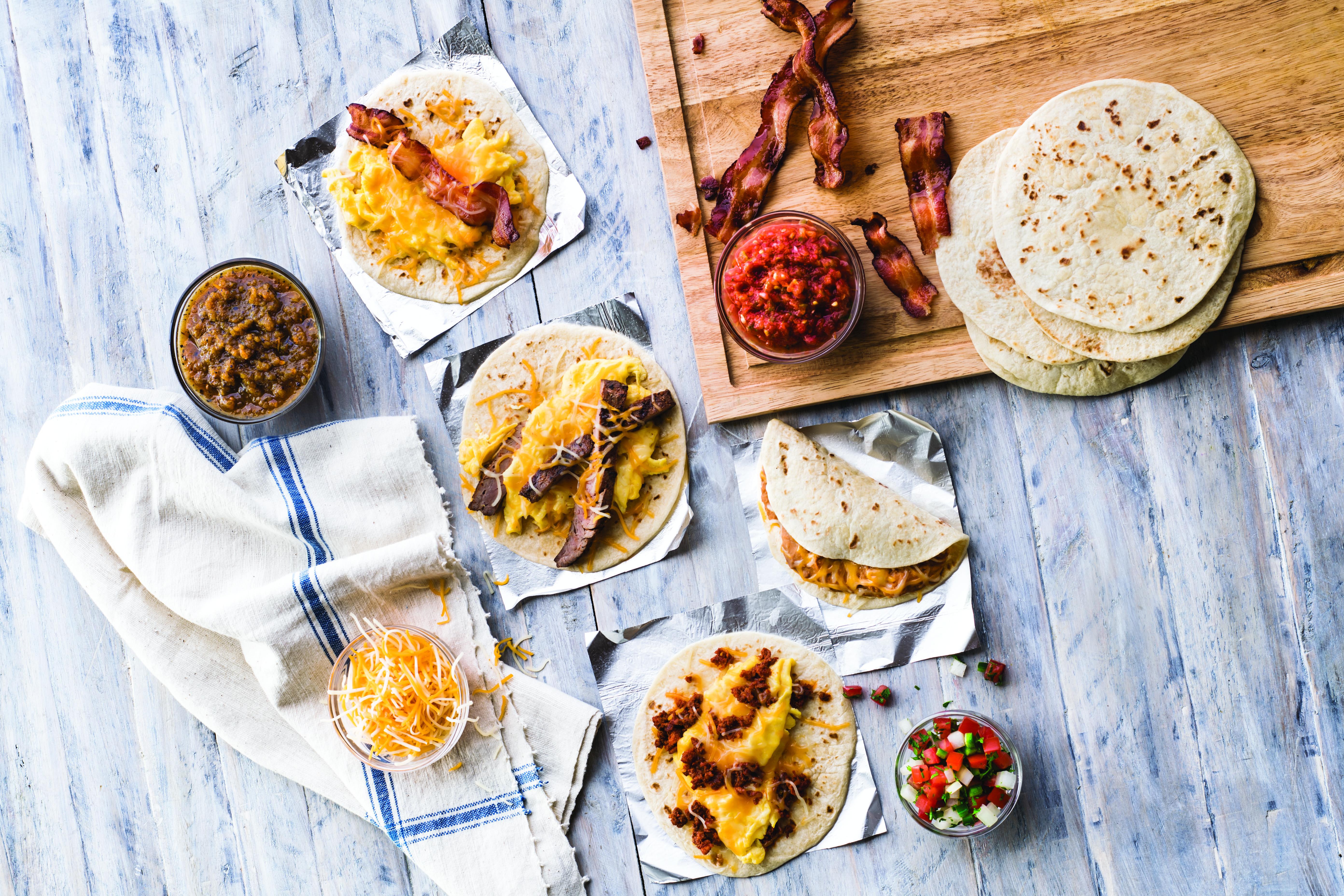 Breakfast tacos from Taco Cabana