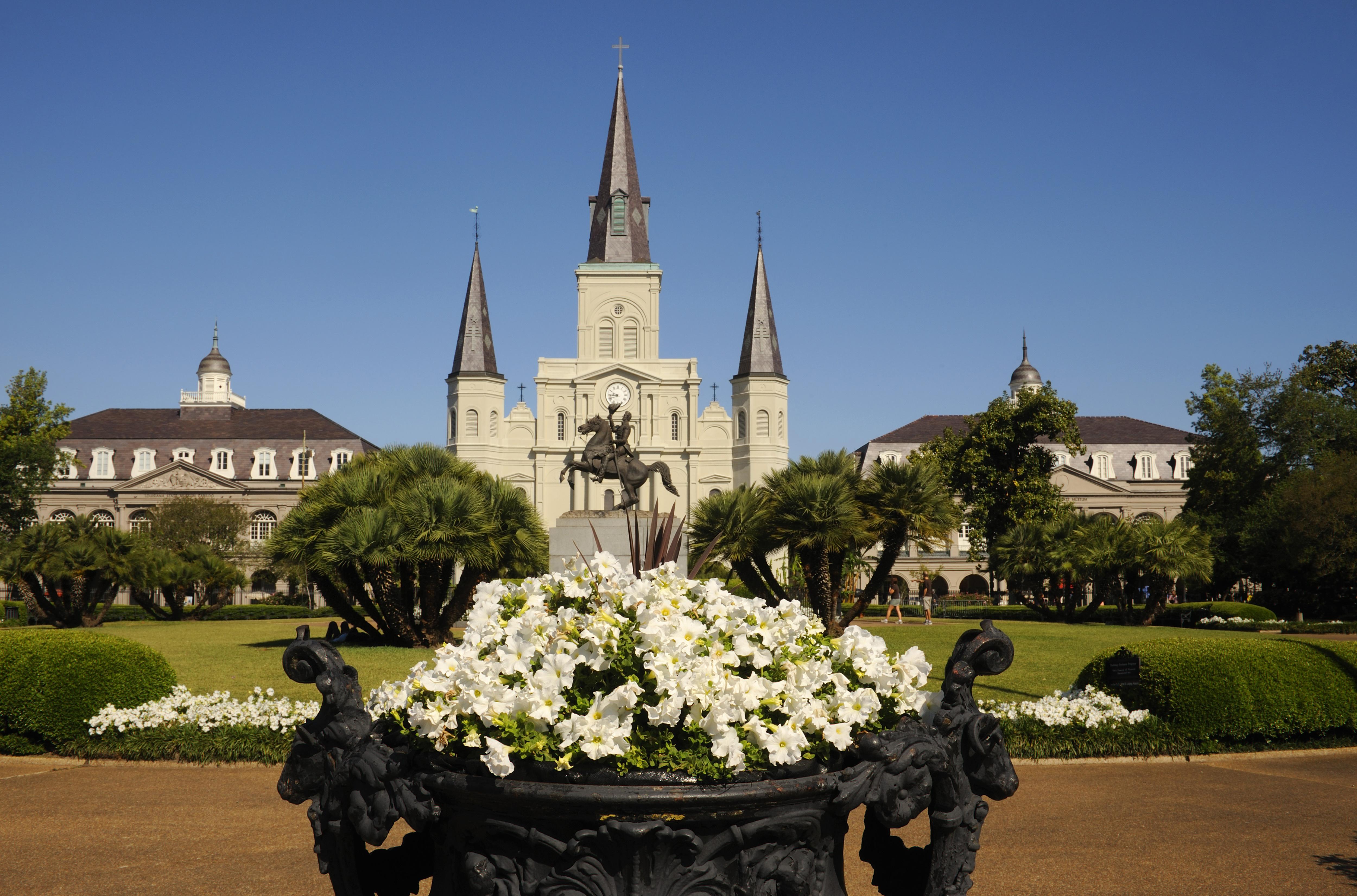 USA, Louisiana, New Orleans, French Quarter, Jackson Square...
