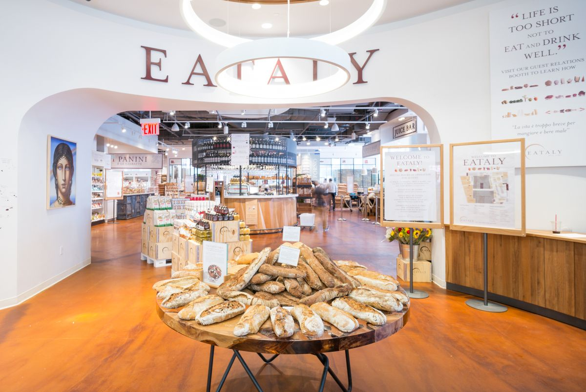 Inside an Eataly store