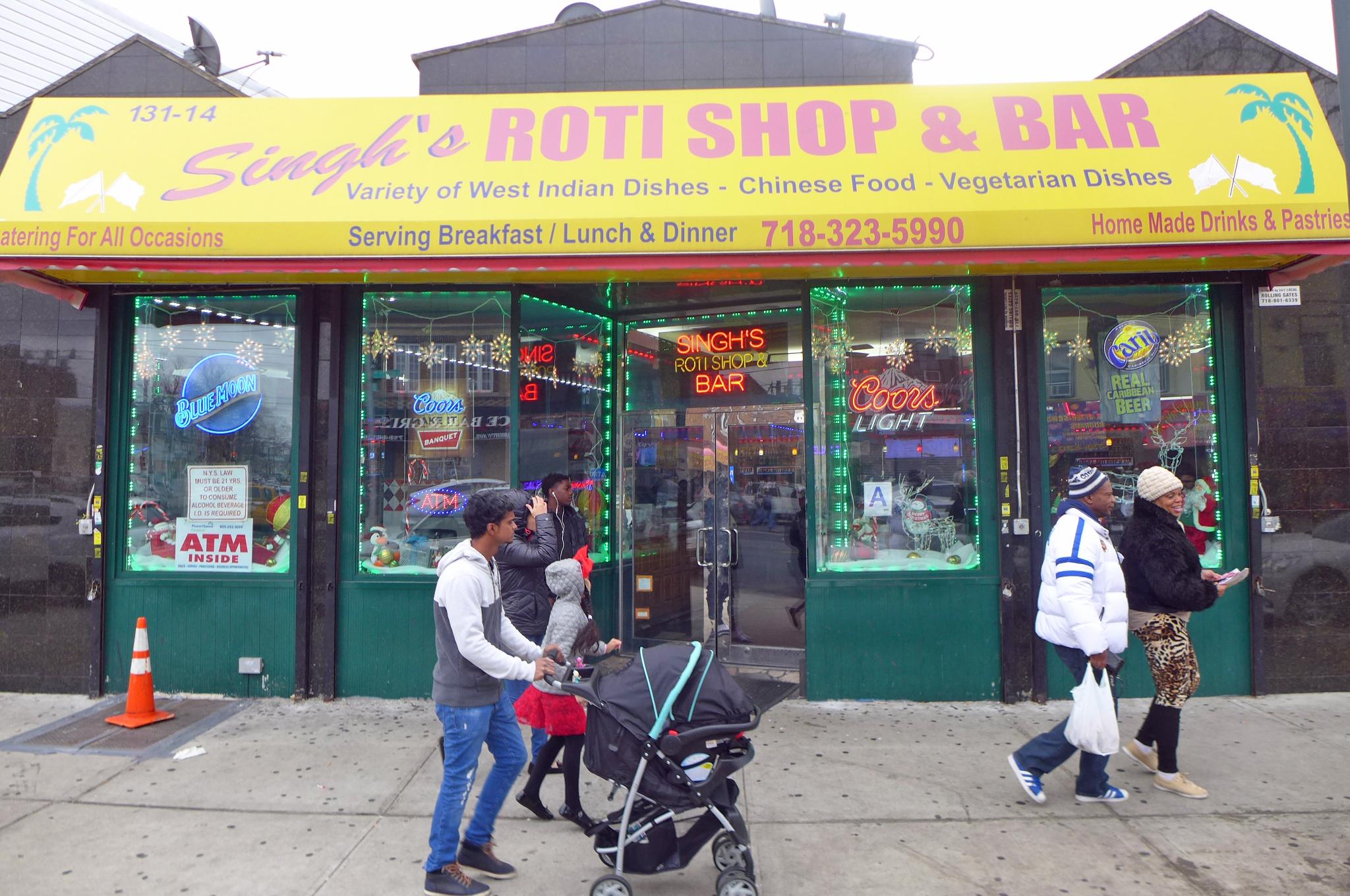 Singh's Roti Shop in Richmond Hill, Queens