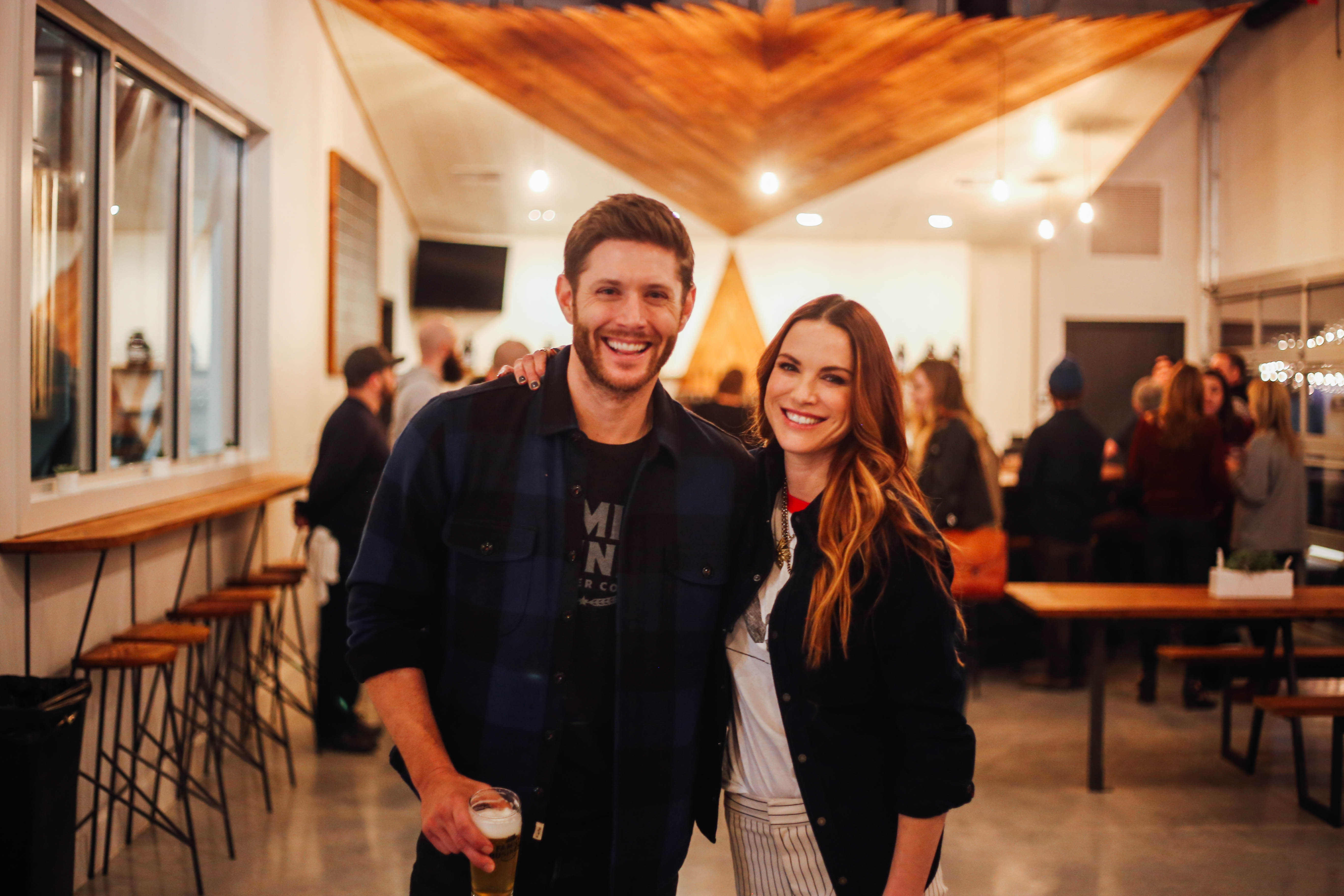 Jensen and Danneel Ackles at Family Business Beer Co.