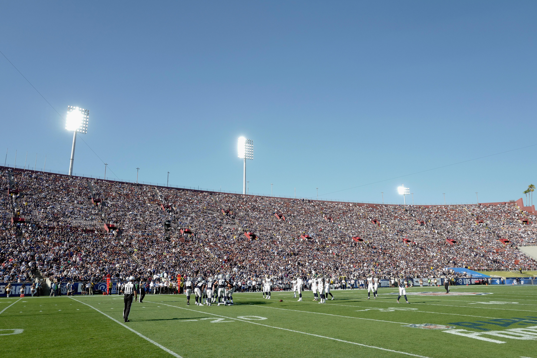 The Los Angeles Memorial Coliseum suring the Rams' preseason game against the Dallas Cowboys