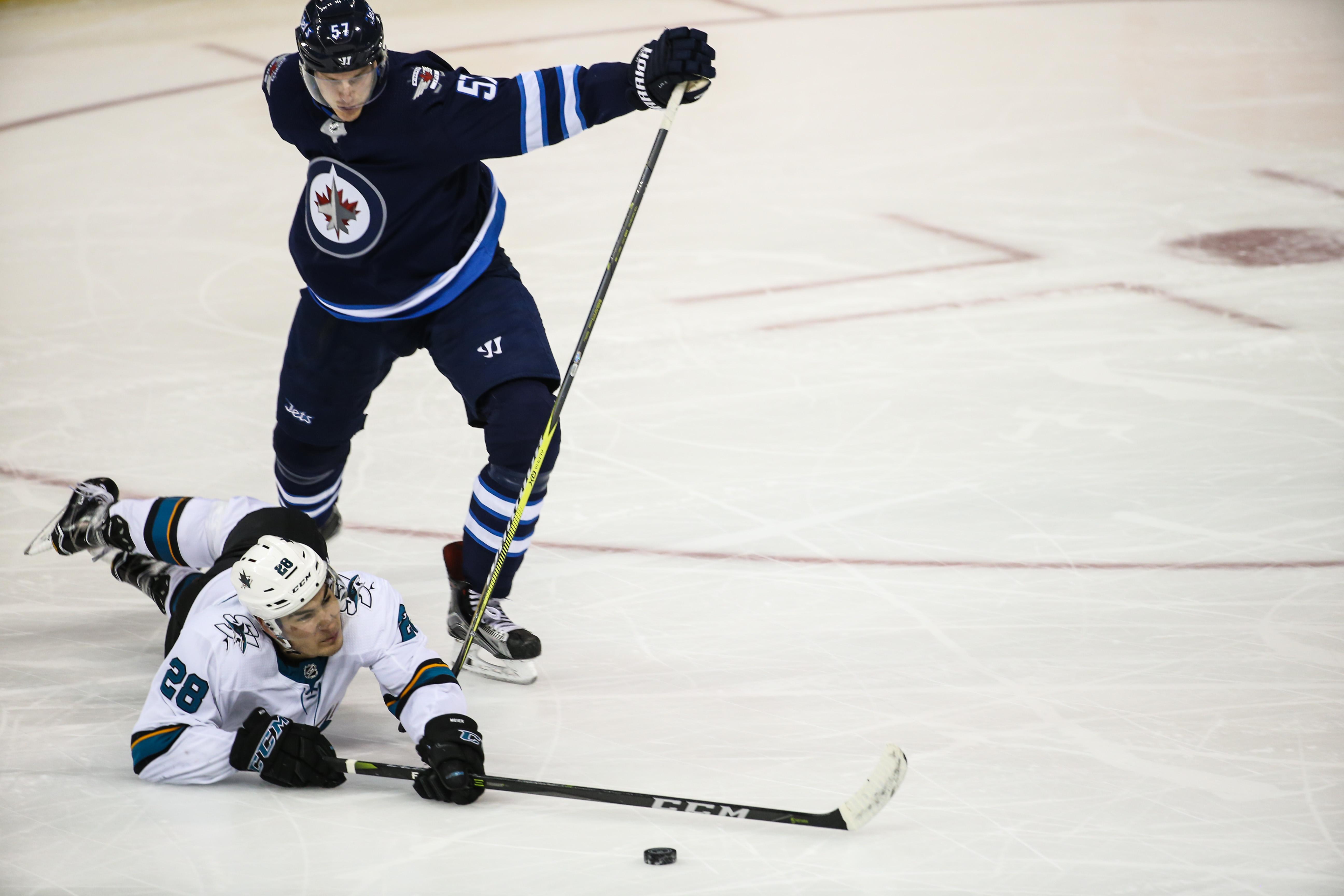 NHL: JAN 07 Sharks at Jets