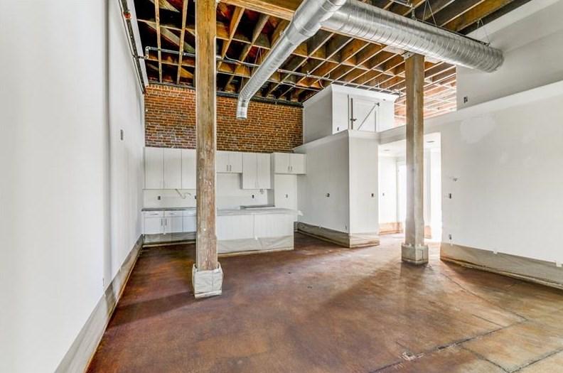 A photo of a loft interior near Castleberry Hill Atlanta.