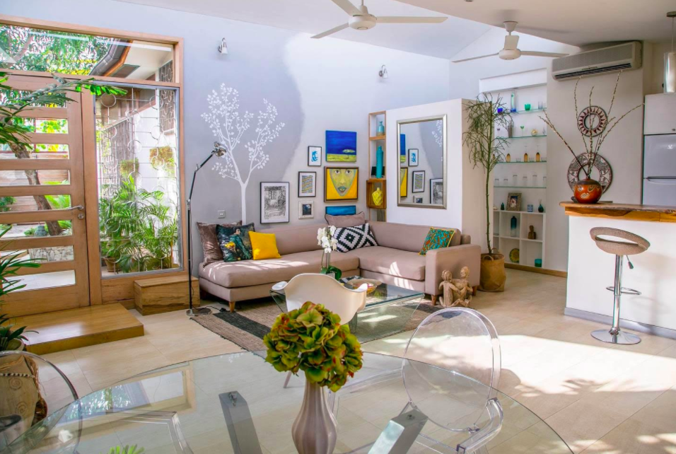 A photo of a living room from an Airbnb listing for a home in Accra Ghana