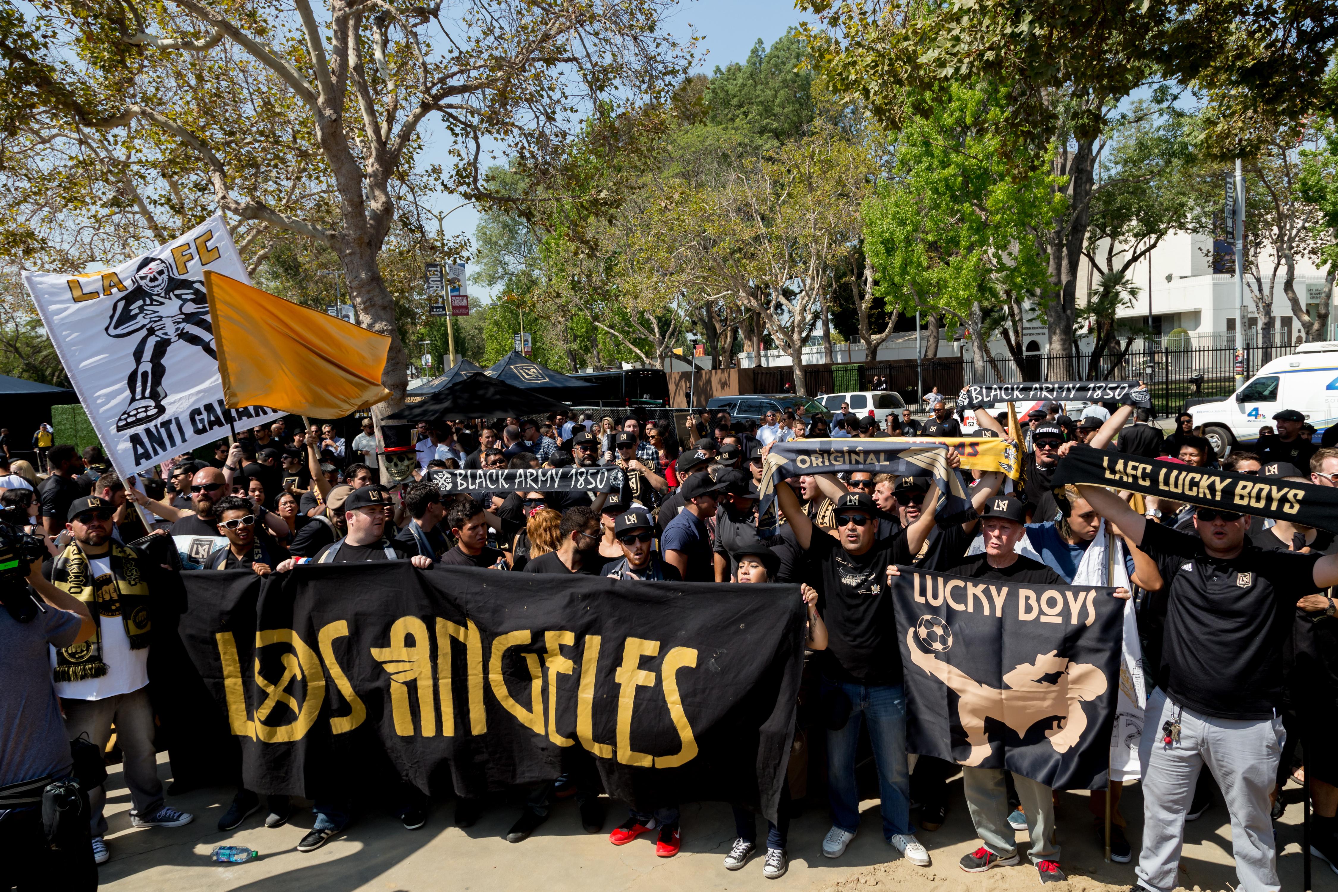 Los Angeles Football Club Stadium Groundbreaking Ceremony