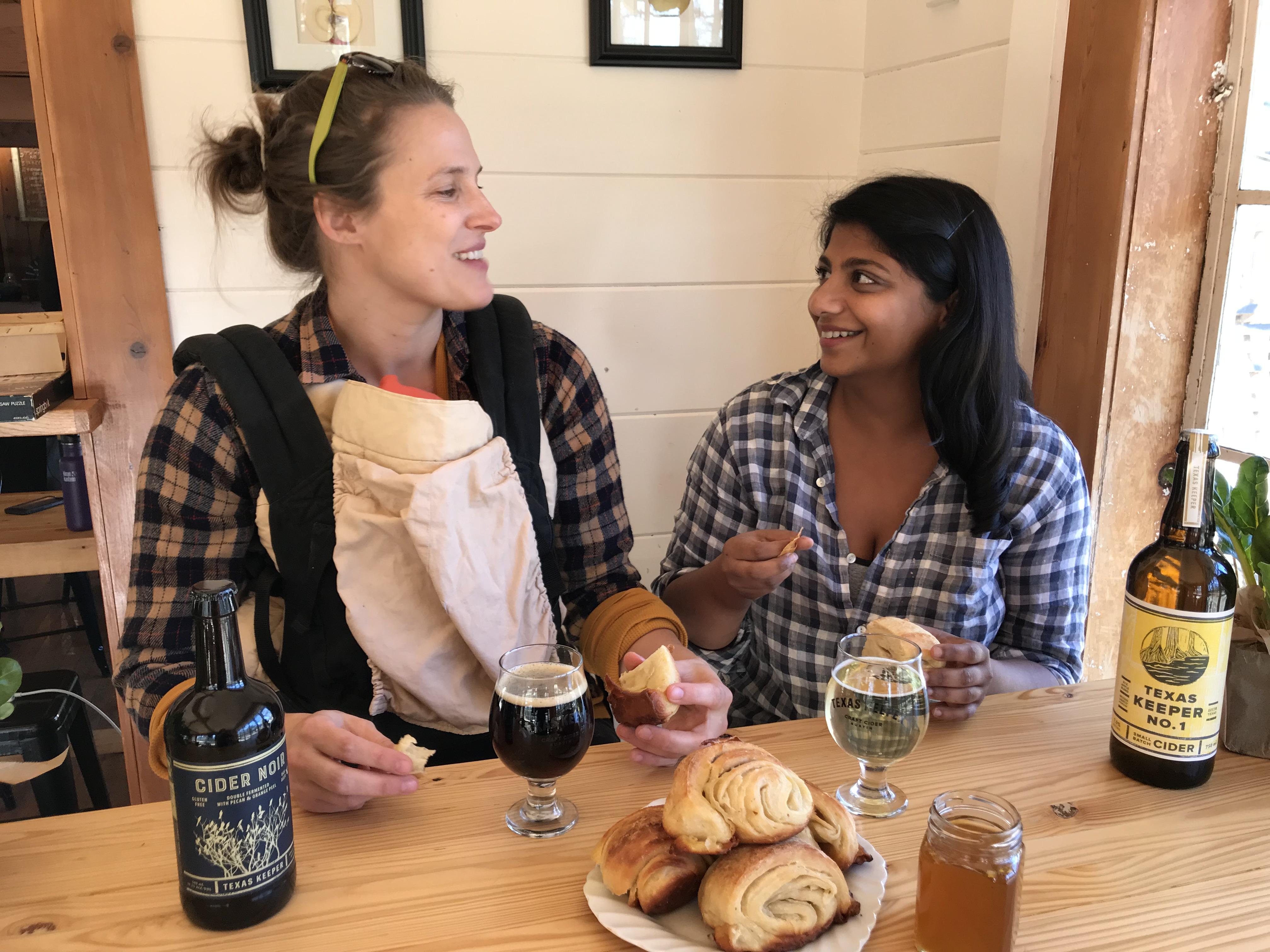 Texas Keeper Cider's Lindsey Peebles and Puli-Ra's Deepa Shridhar