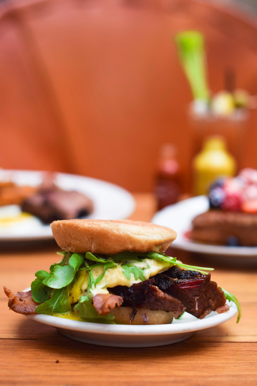 Lambert's barbecue breakfast sandwich