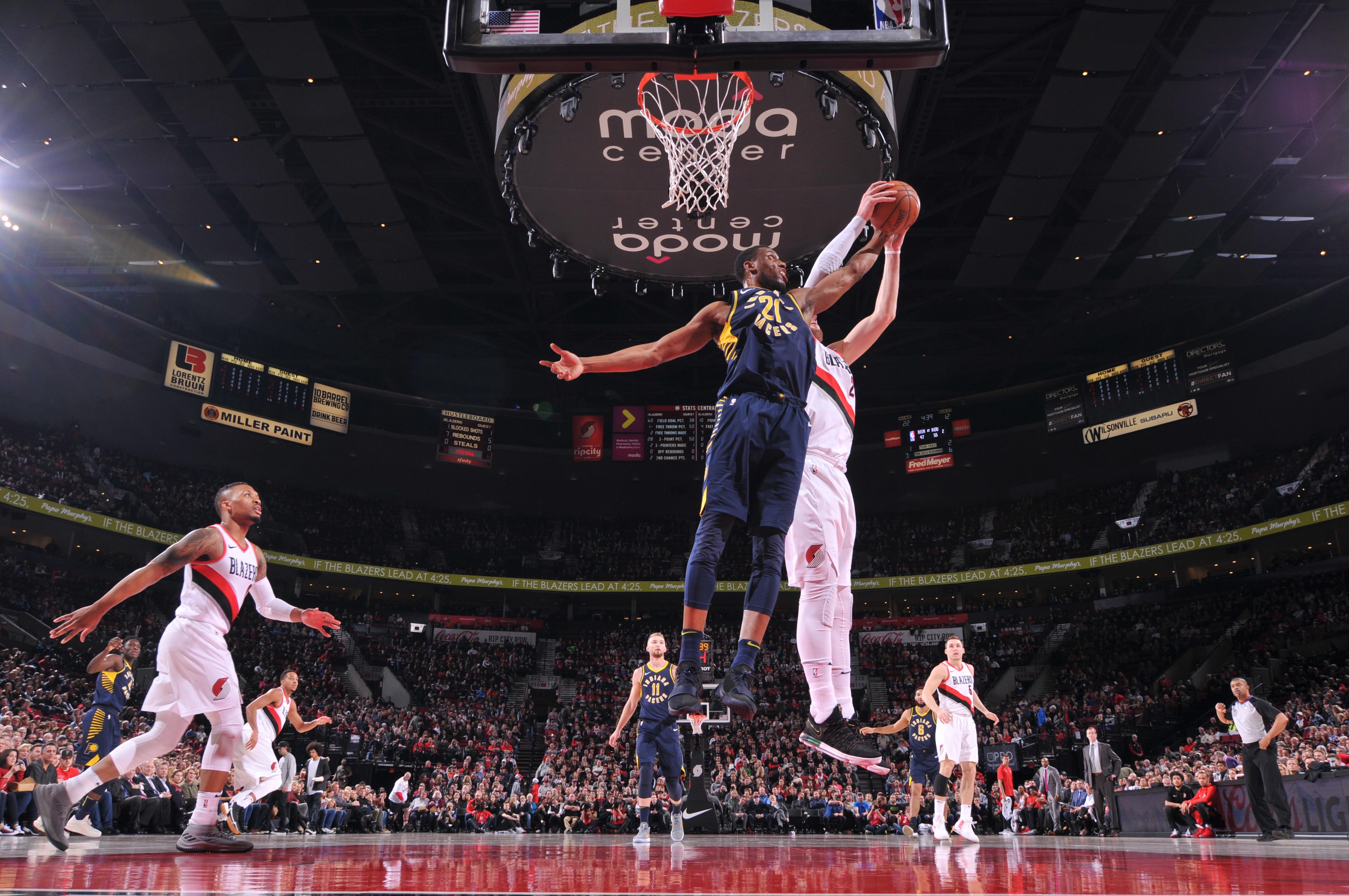 Indiana Pacers v Portland Trail Blazers