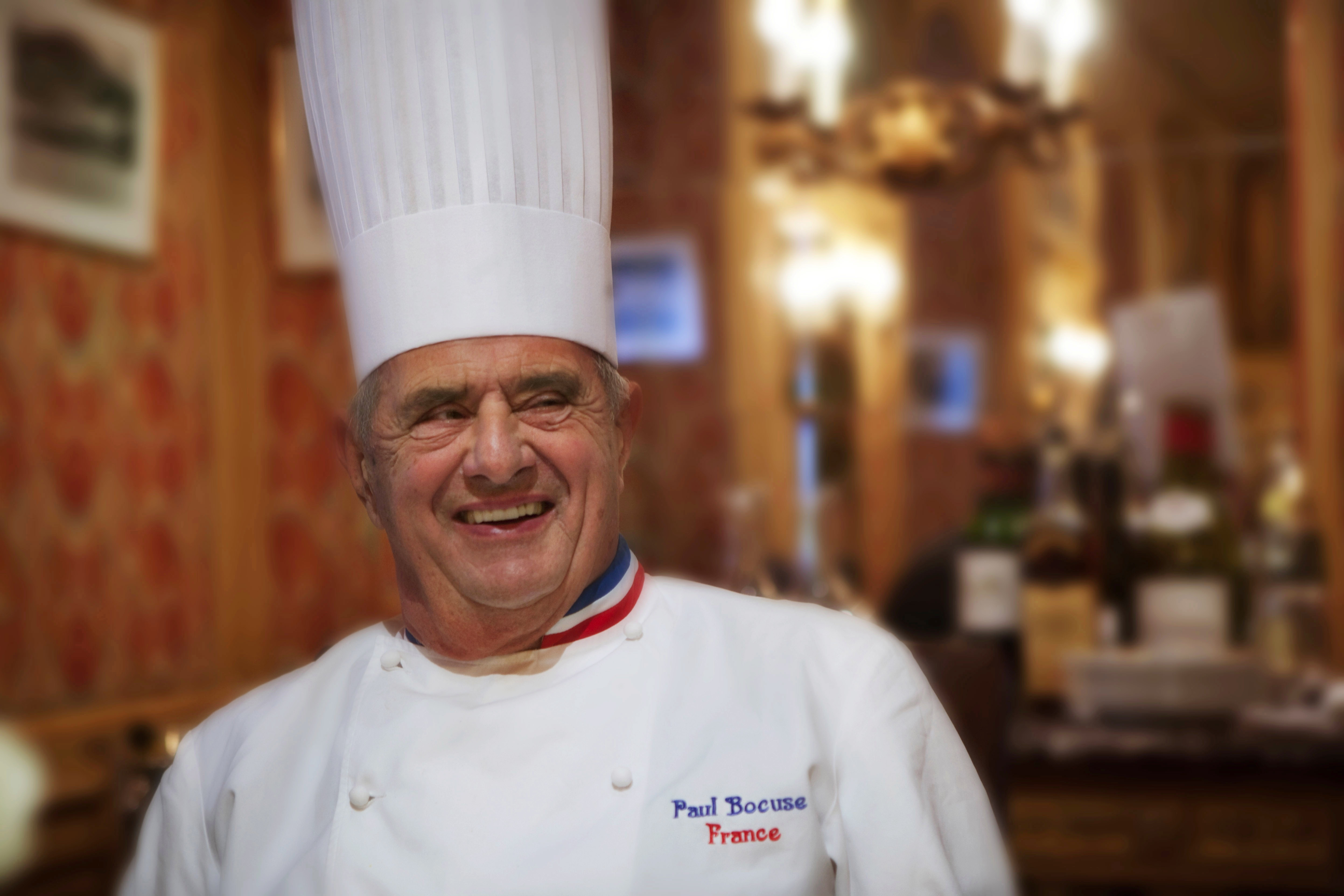 French Chef Paul Bocuse In His Restaurant Paul Bocuse In Collonges-Au-Mont-d'Or